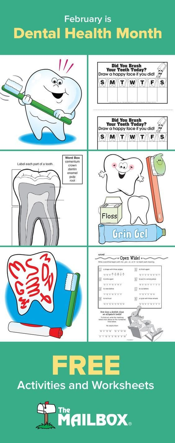 Free Dental Health Worksheets February is Dental Health Month Check Out these and Plenty