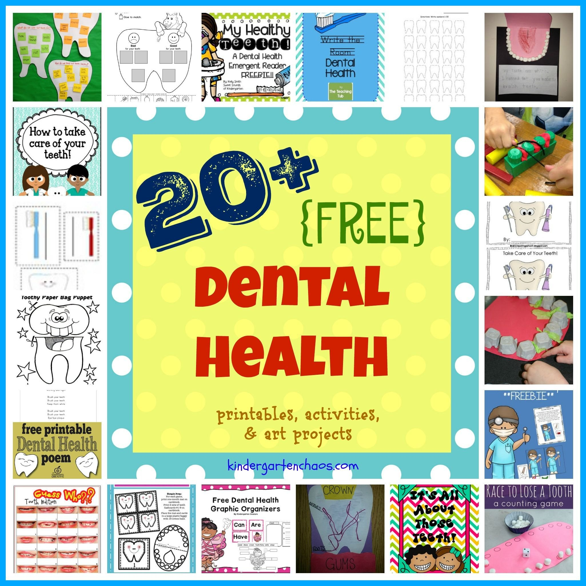 Free Dental Health Worksheets Ultimate List Of Dental Health for the Classroom