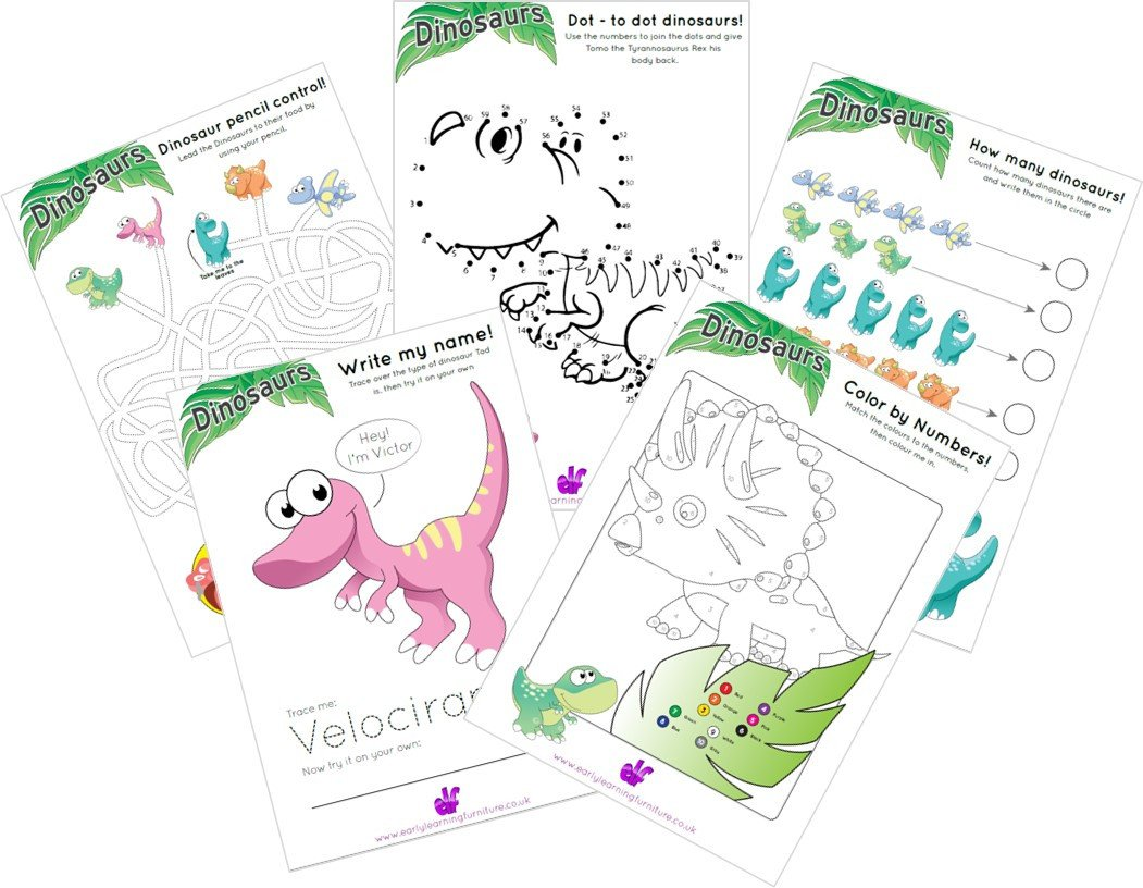 Free Dinosaur Worksheets Dinosaur Free Printable Worksheets
