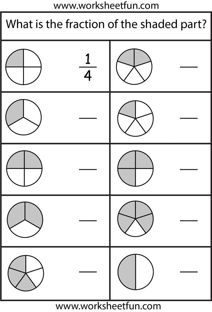 Free First Grade Fraction Worksheets Fraction Worksheets 1st Grade