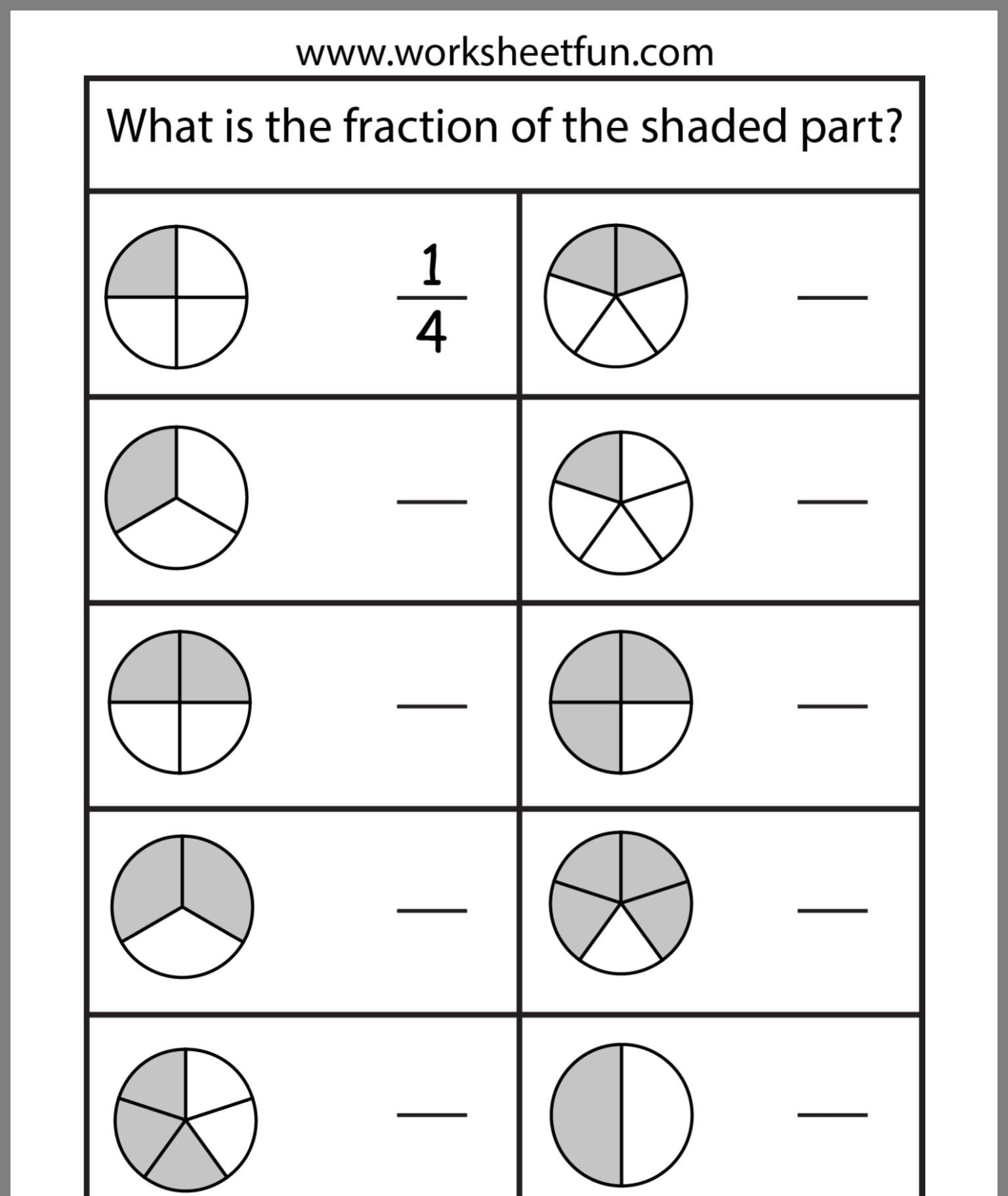 Free First Grade Fraction Worksheets Pin by Rene Scarb On Worksheetfun