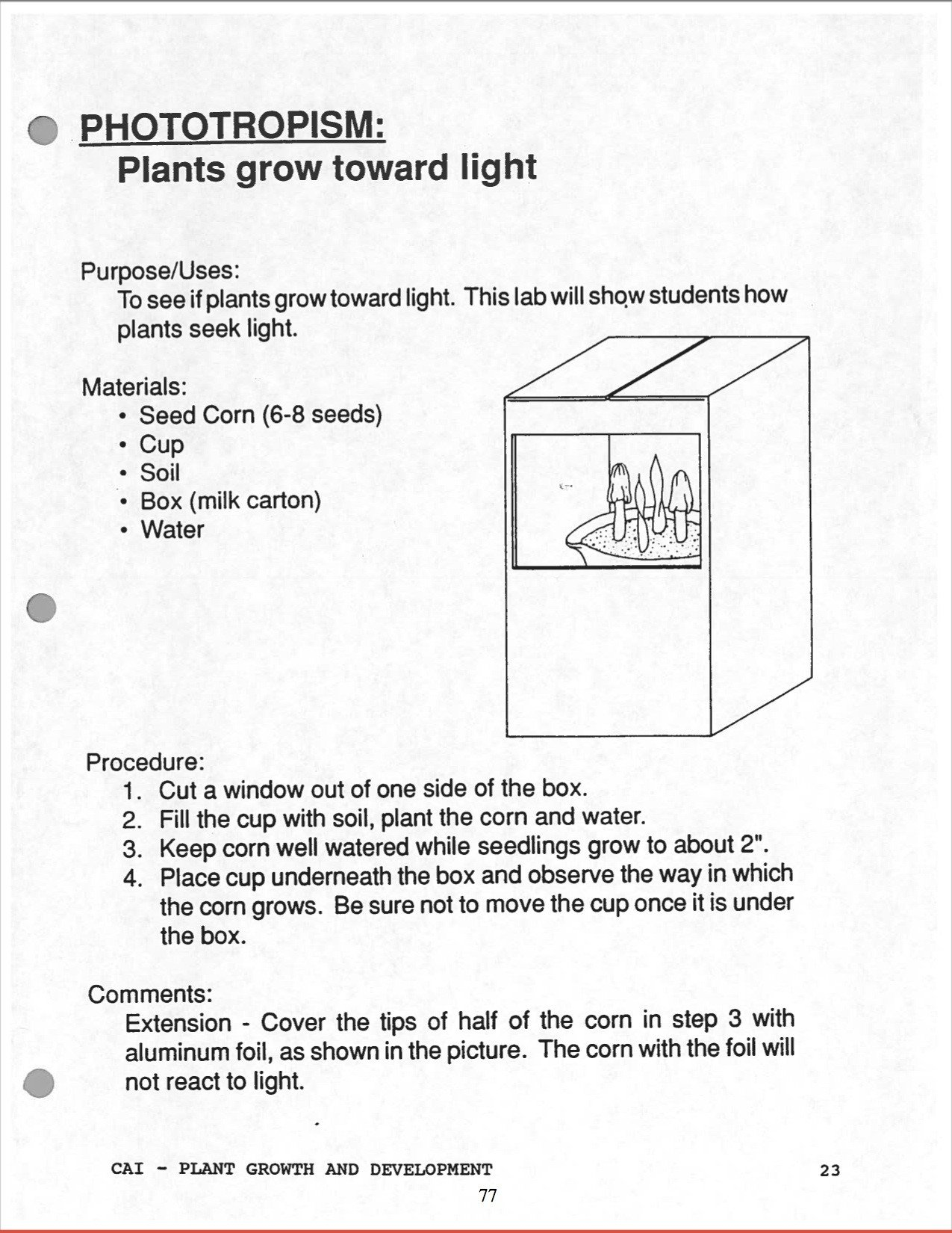 "Free Horticulture Worksheets High School Horticulture Curriculum"" by Margaret Maratsos"