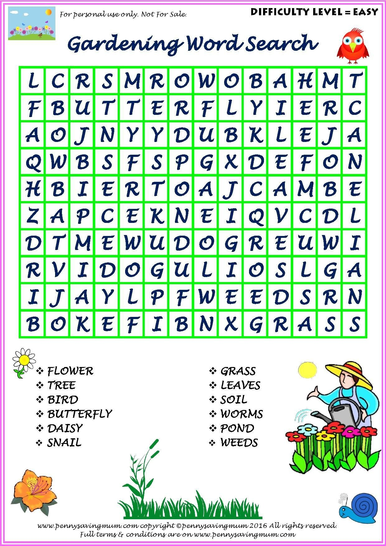 Free Horticulture Worksheets Horticulture Activity Worksheets