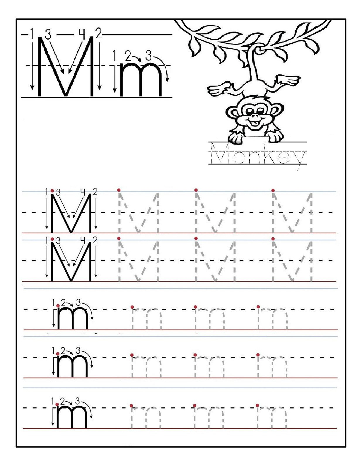 Free Letter M Worksheets Letter M Worksheets