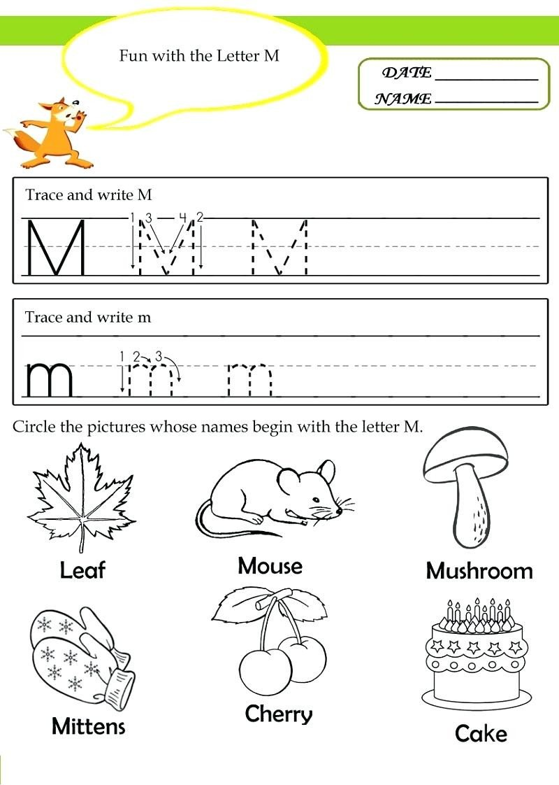 Free Letter M Worksheets Worksheet Grade Classroom themes Preschool Weekly Lesson