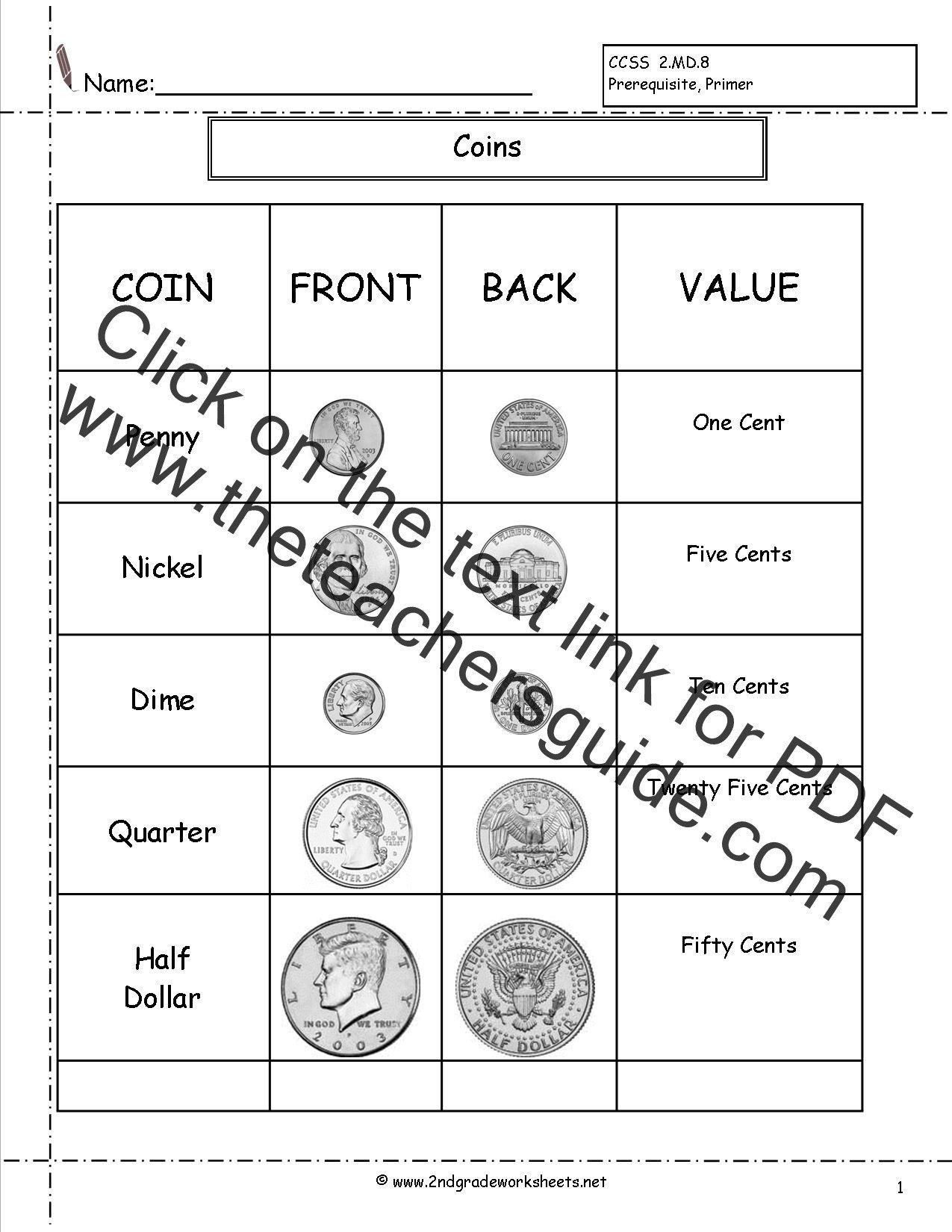 Free Making Change Worksheets Counting Coins and Money Worksheets and Printouts