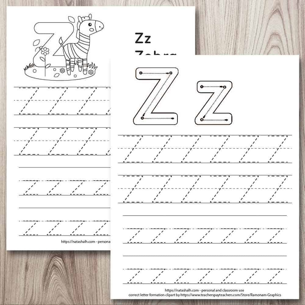 Free Printable Letter P Worksheets Free Printable Letter Z Tracing Worksheet Z is for Zebra