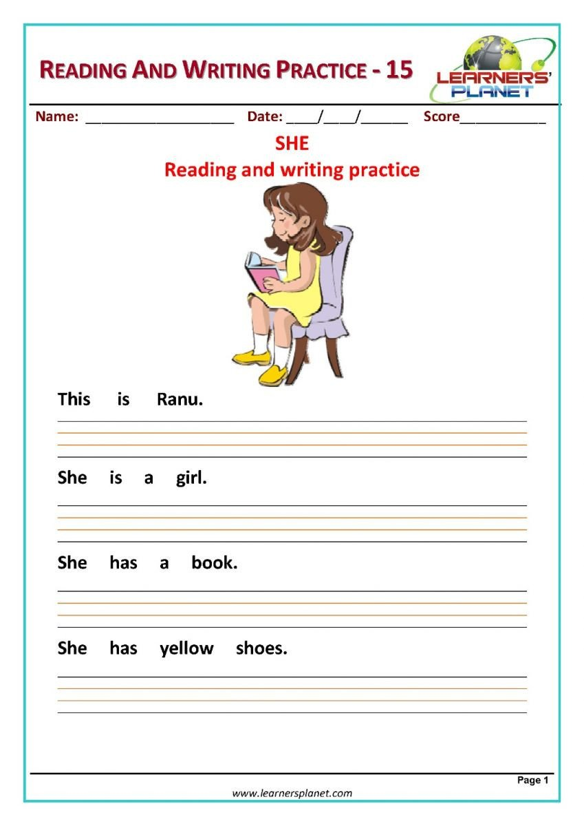 Reading and writing practice 15