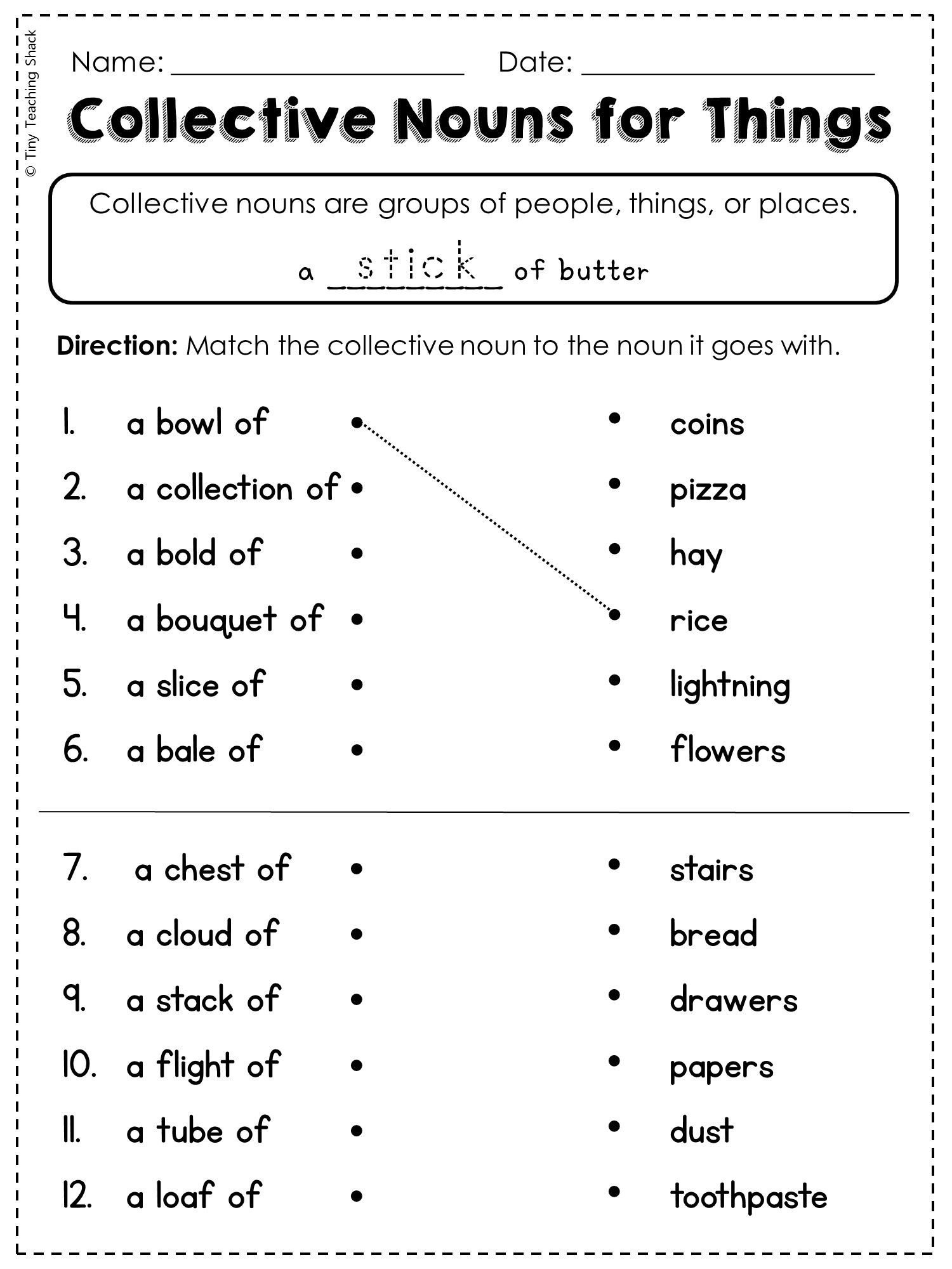 Free Proper Noun Worksheets 2nd Grade Language Arts and Grammar Practice Sheets Freebie