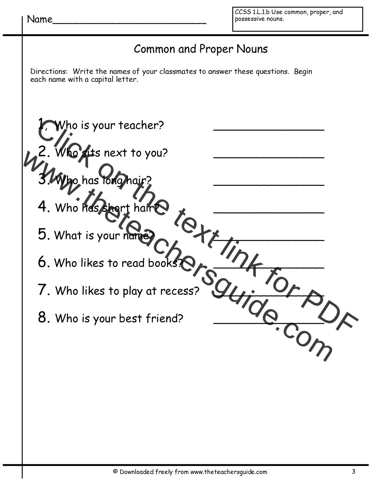 Free Proper Noun Worksheets Proper Noun and Mon Noun Worksheet Promotiontablecovers