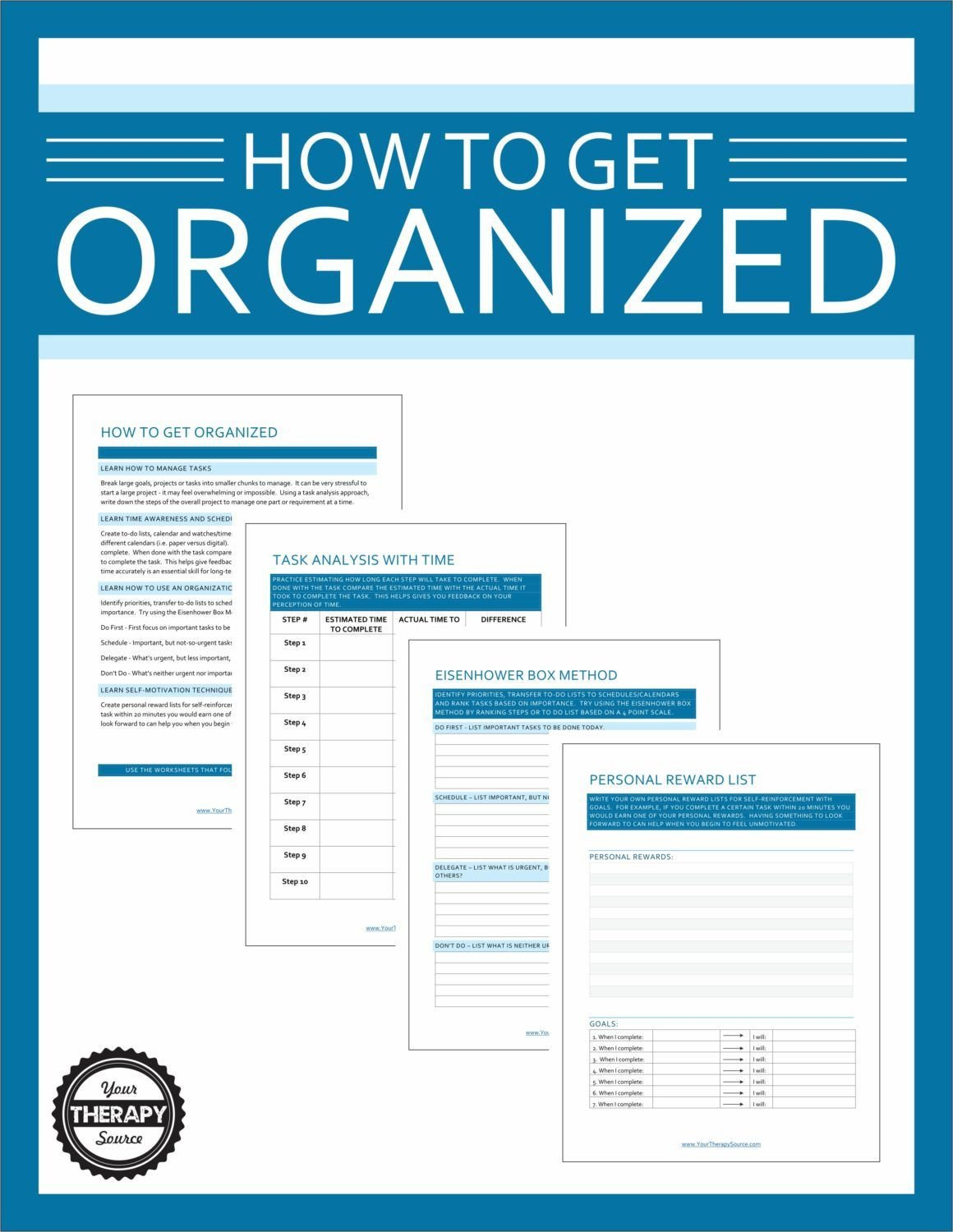 Free Study Skills Worksheets How to Get organized Worksheets for Students Your therapy