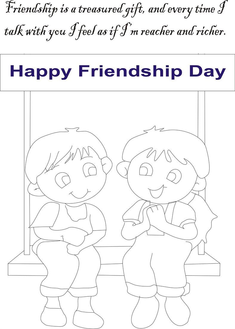 Friendship Worksheets for Kindergarten Friendship Day Coloring Page for Kids 6