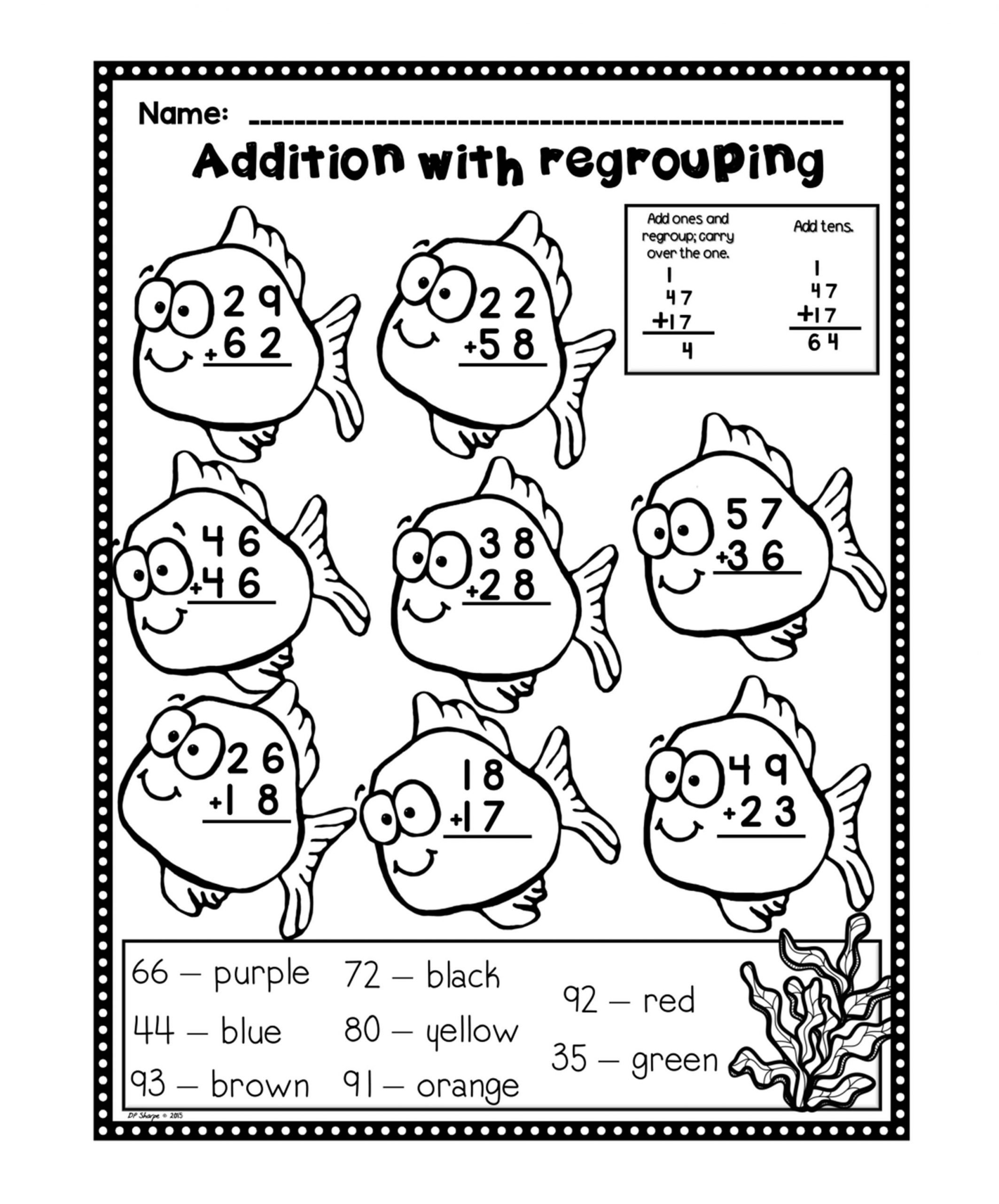 Fun Subtraction with Regrouping Worksheets Addition with Regrouping Worksheets Fun Set