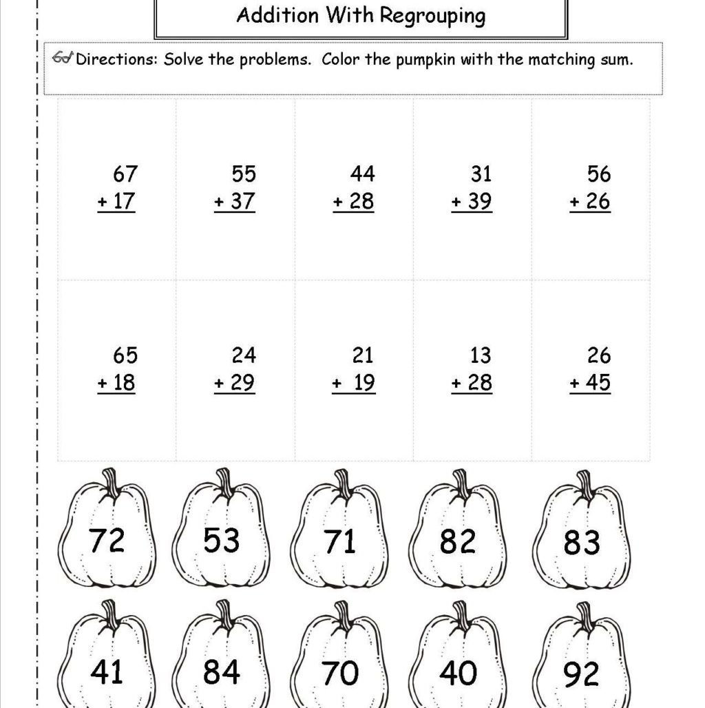 Fun Subtraction with Regrouping Worksheets Worksheet Digit Subtraction without Regrouping Coloring