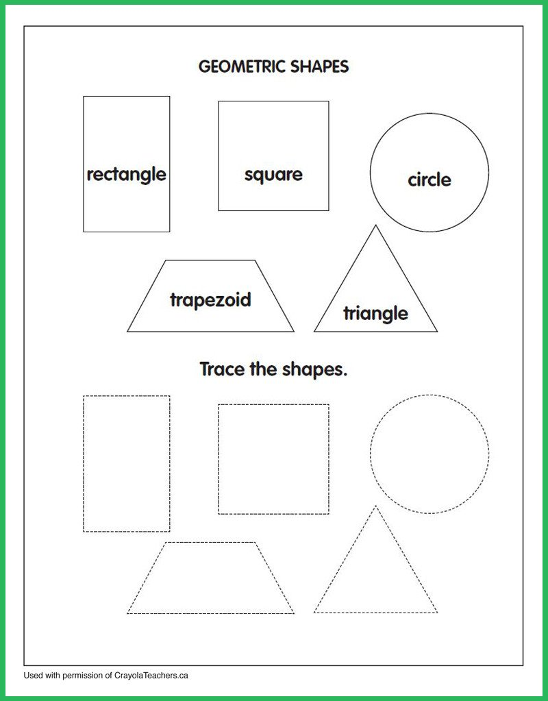 Geometric Shape Pattern Worksheets Art Worksheets Crayola Teachers