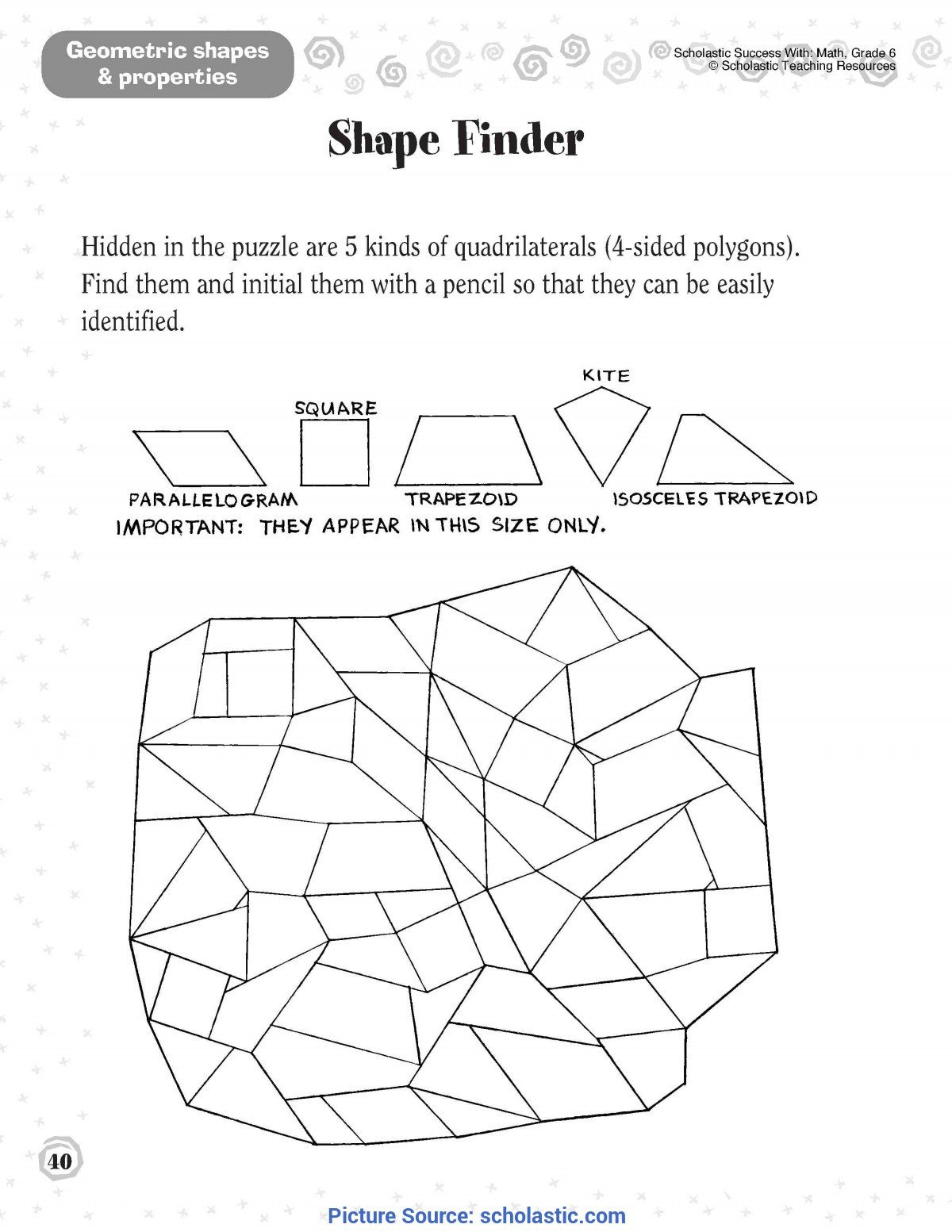 Geometric Shapes Worksheet 2nd Grade Second Grade Ota Tech
