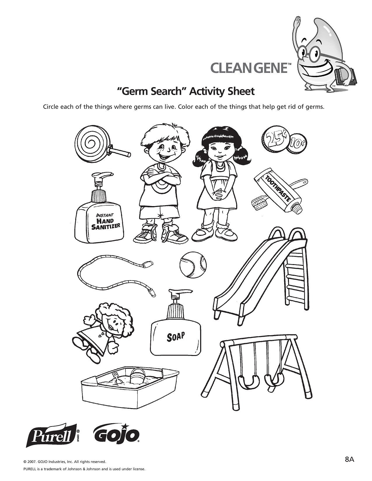 Germ Worksheets for First Grade Germ Worksheet