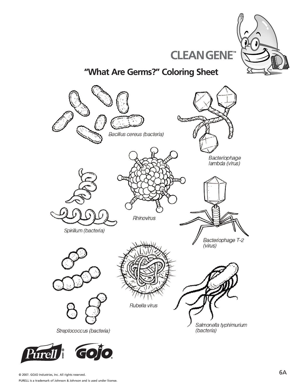 Germ Worksheets for First Grade K 5 Hand Hygiene Lesson Plans and Worksheets Lesson 6 Page