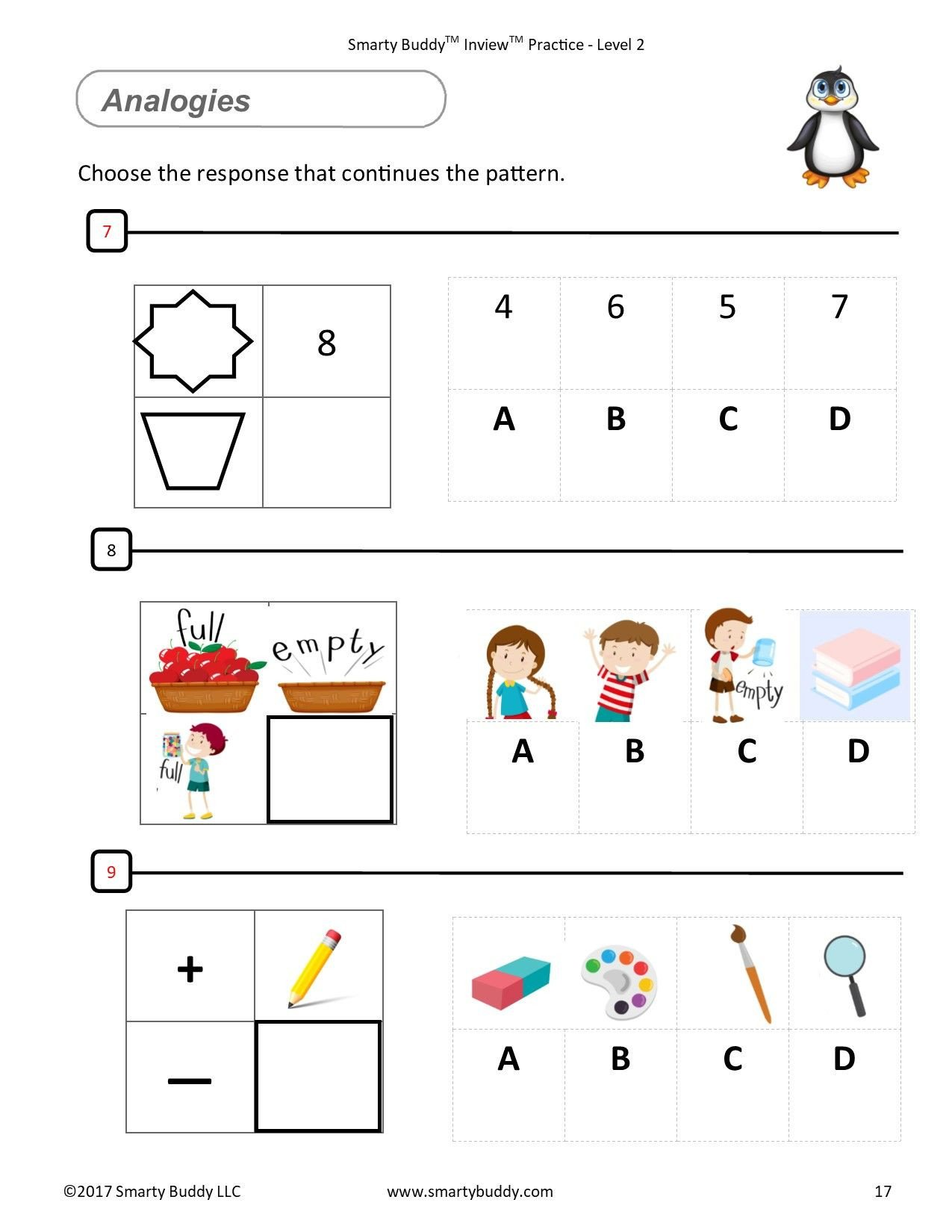 Gifted and Talented Kindergarten Worksheets Smarty Buddy Logic Gifted and Talented Kids Worksheets