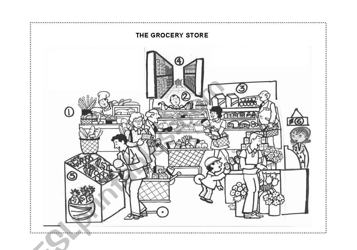 Grocery Store Worksheets the Grocery Store Page 1 Esl Worksheet by Martik