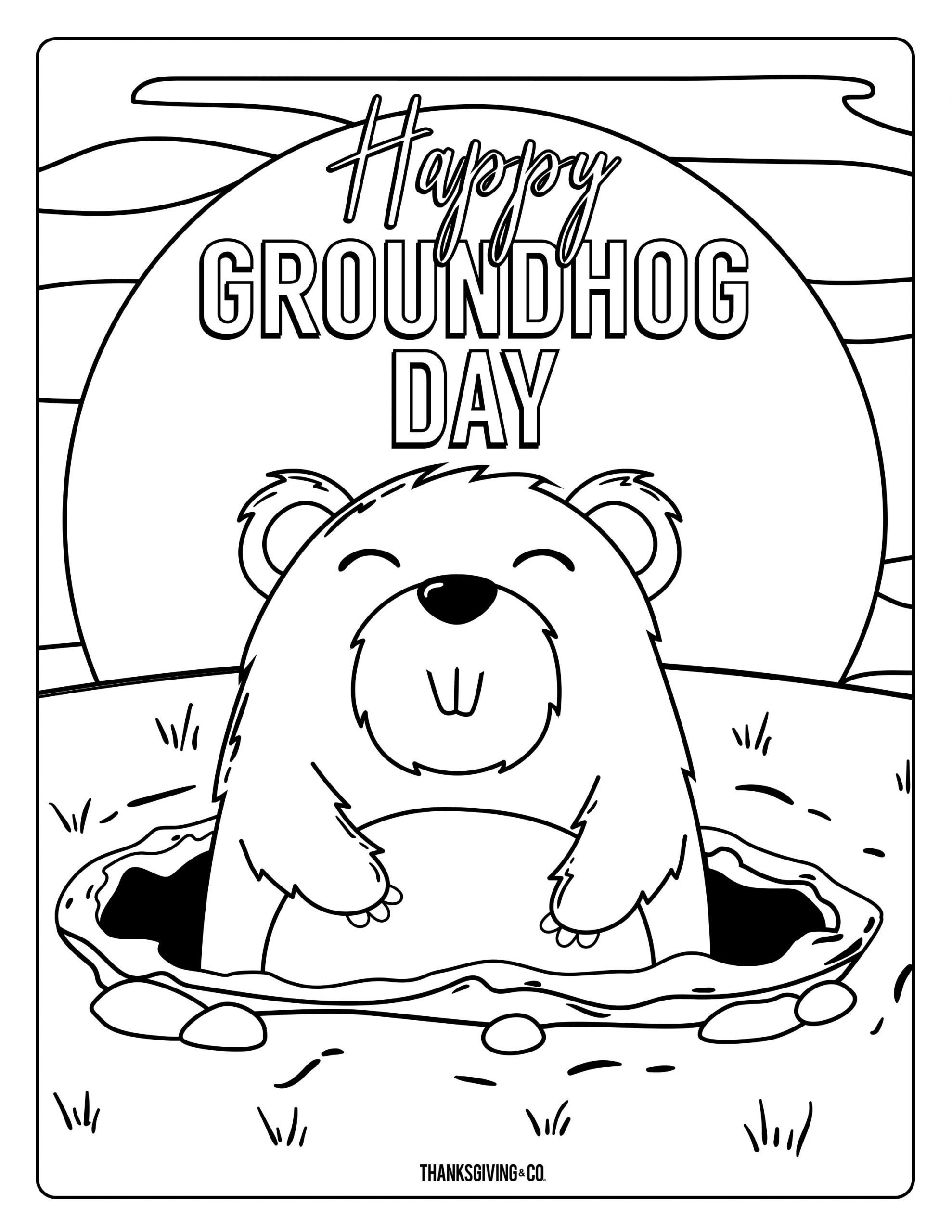 groundhog coloring pages best of 4 adorable groundhog day coloring pages for kids 2