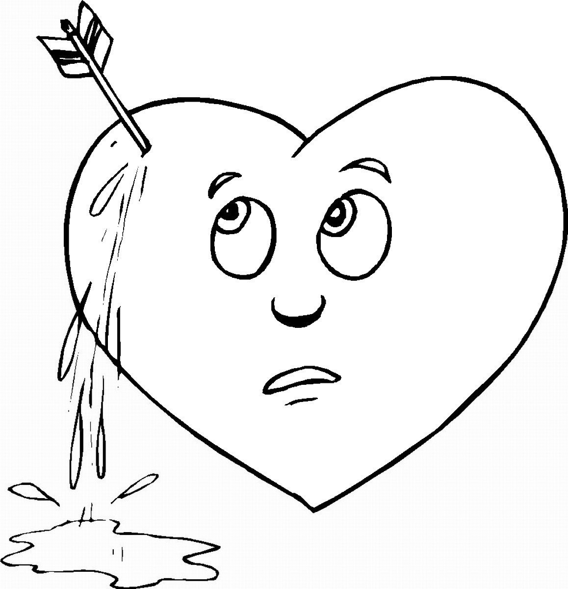 Heart Coloring Worksheet Hearts Coloring Pages