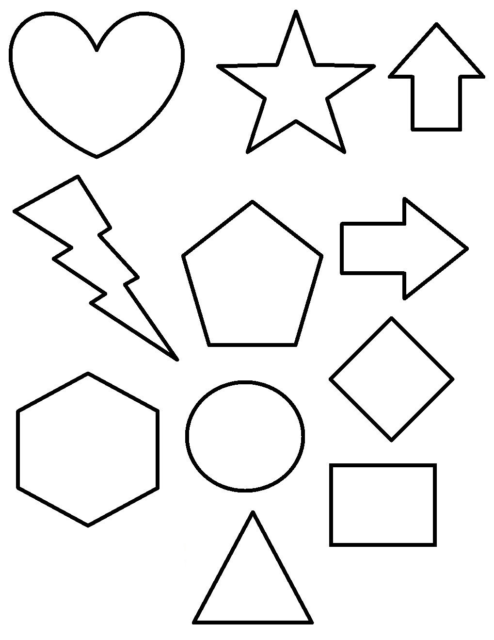 Hexagon Worksheet for Kindergarten Free Printable Shapes Coloring Pages for Kids