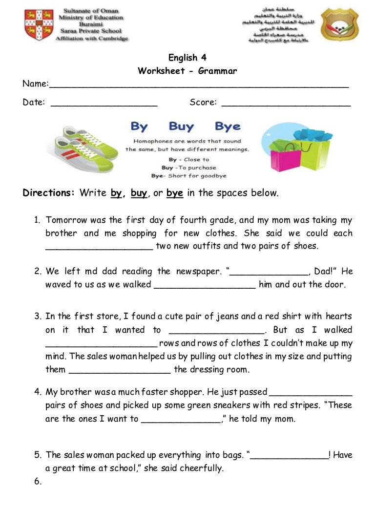 homophones 2 worksheet