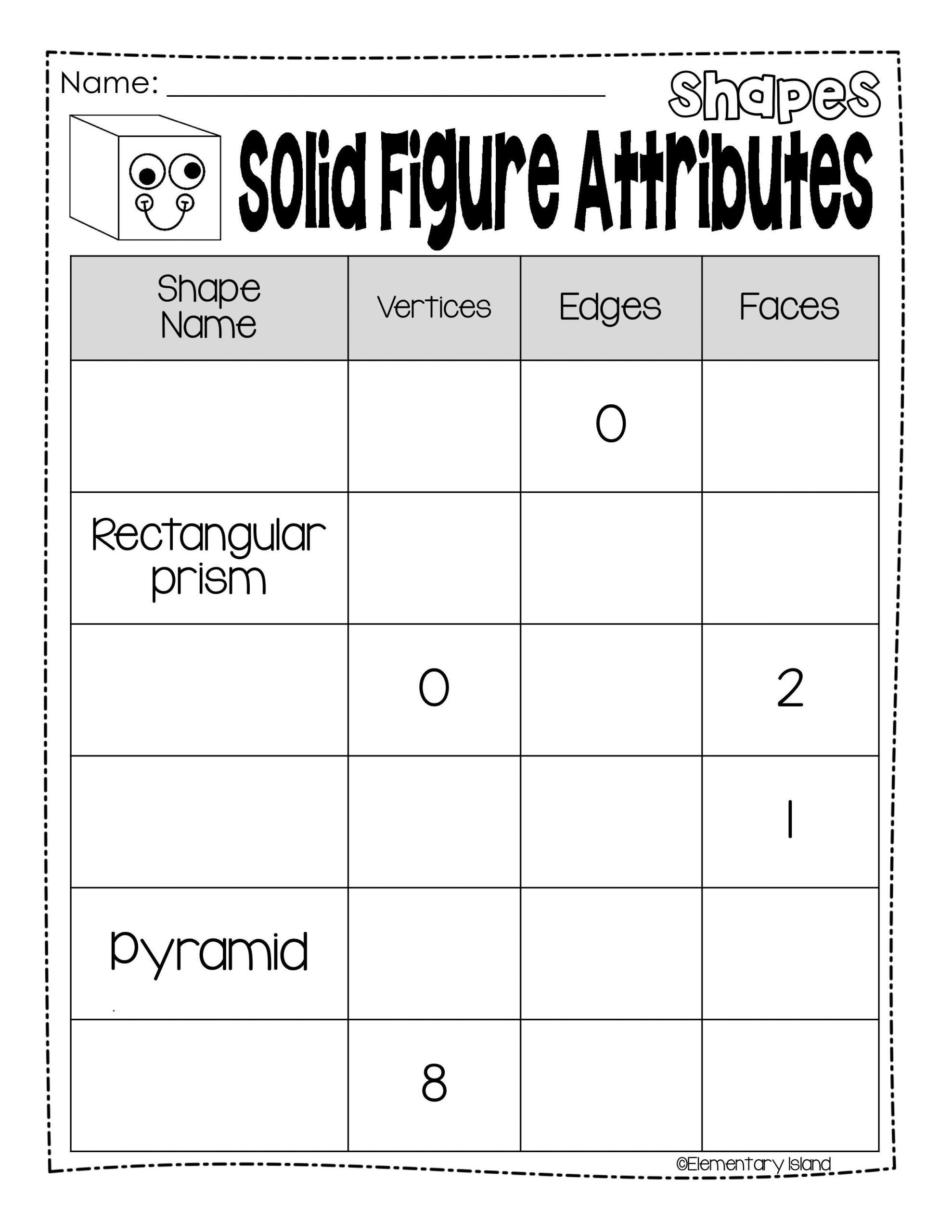 Identifying 2d Shapes Worksheets 2d and 3d Shapes Worksheets Plane & solid Figures