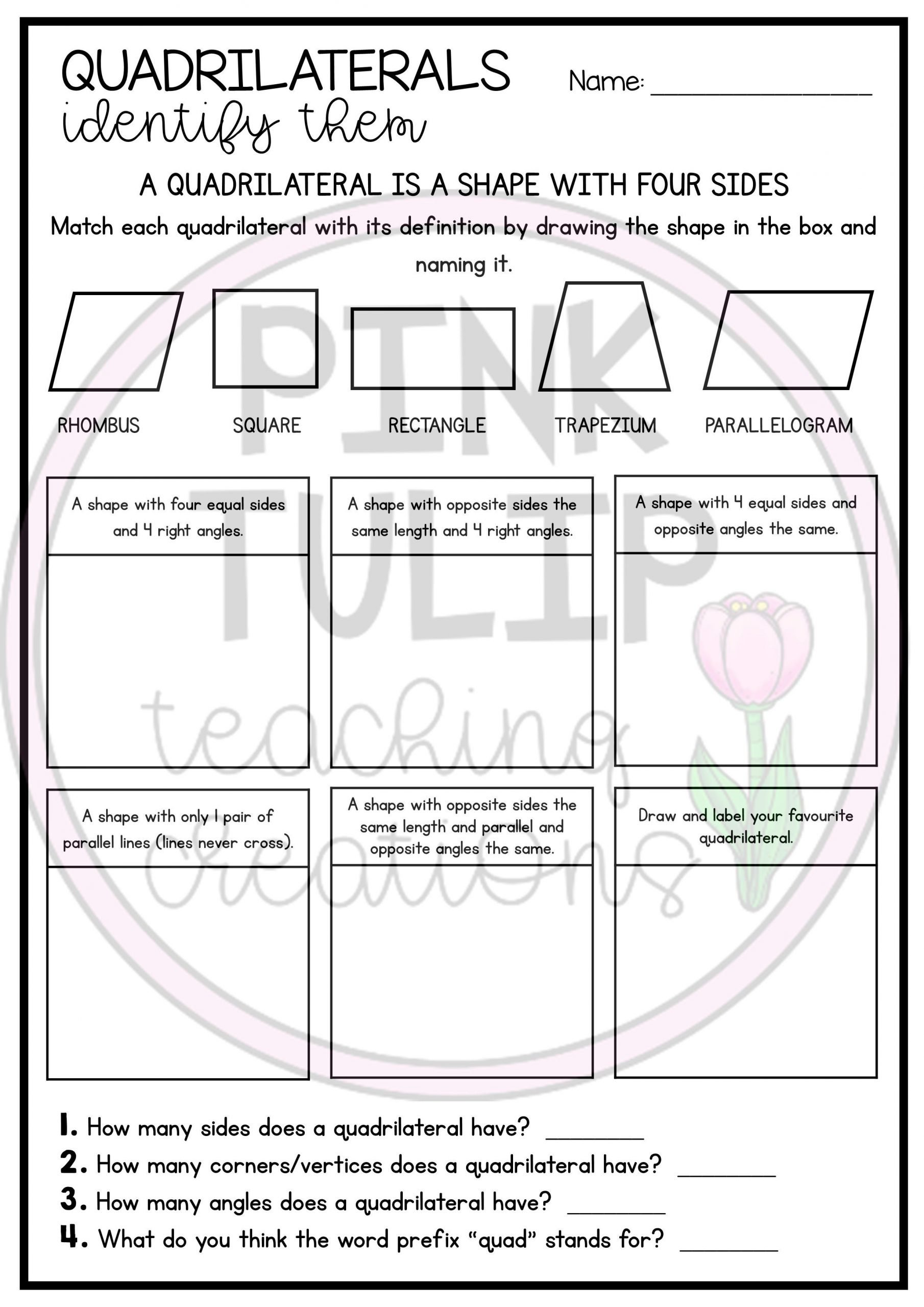 Identifying 2d Shapes Worksheets 2d Shapes Lines and Patterns Worksheet Pack In 2020