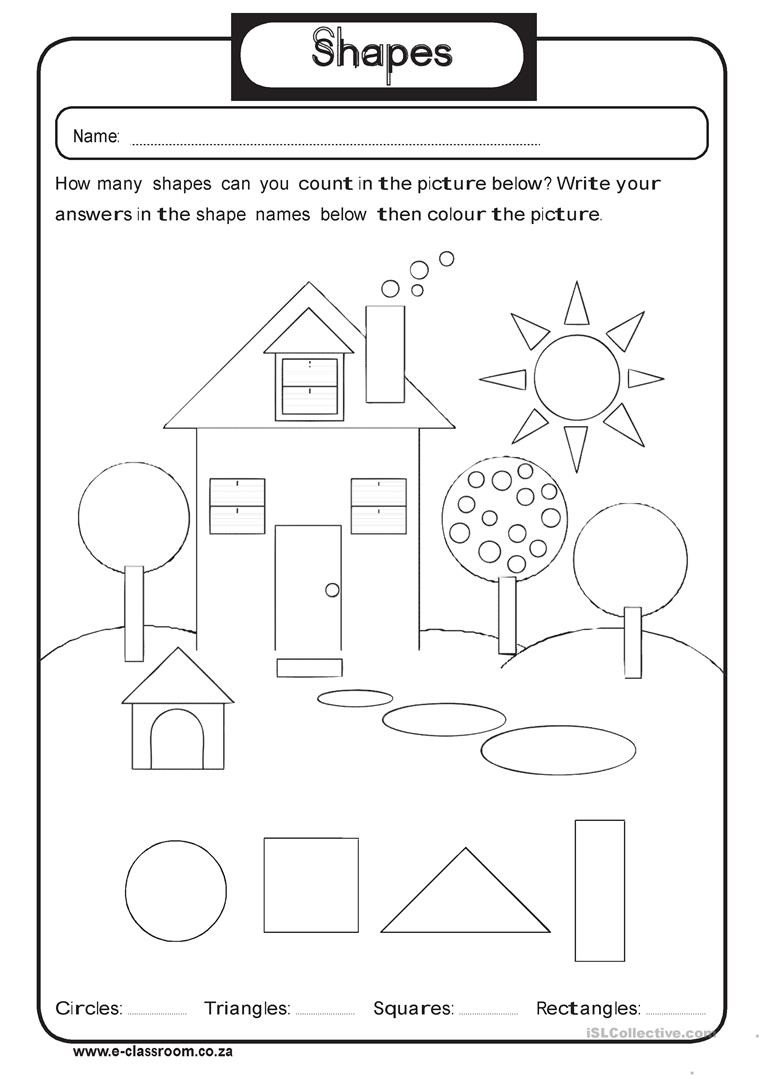 Identifying 2d Shapes Worksheets 2nd Grade Shapes Barbara Pentikis Lessons Tes Teach