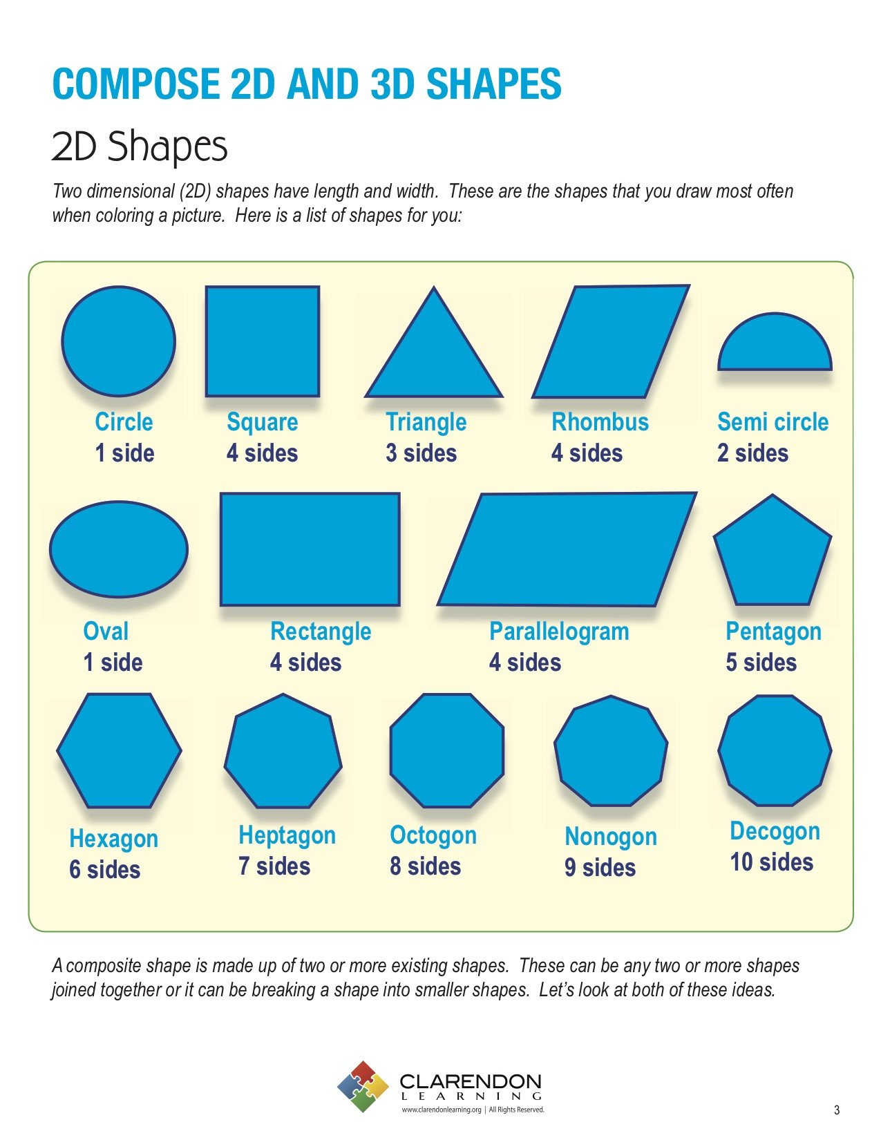 Identifying 2d Shapes Worksheets Pose 2d and 3d Shapes