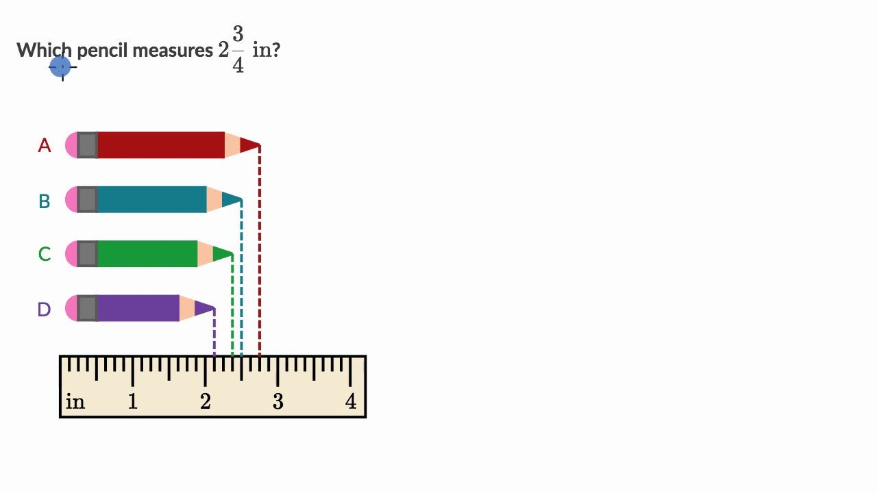 Inches Measurement Worksheets Measure Lengths to Nearest 1 4