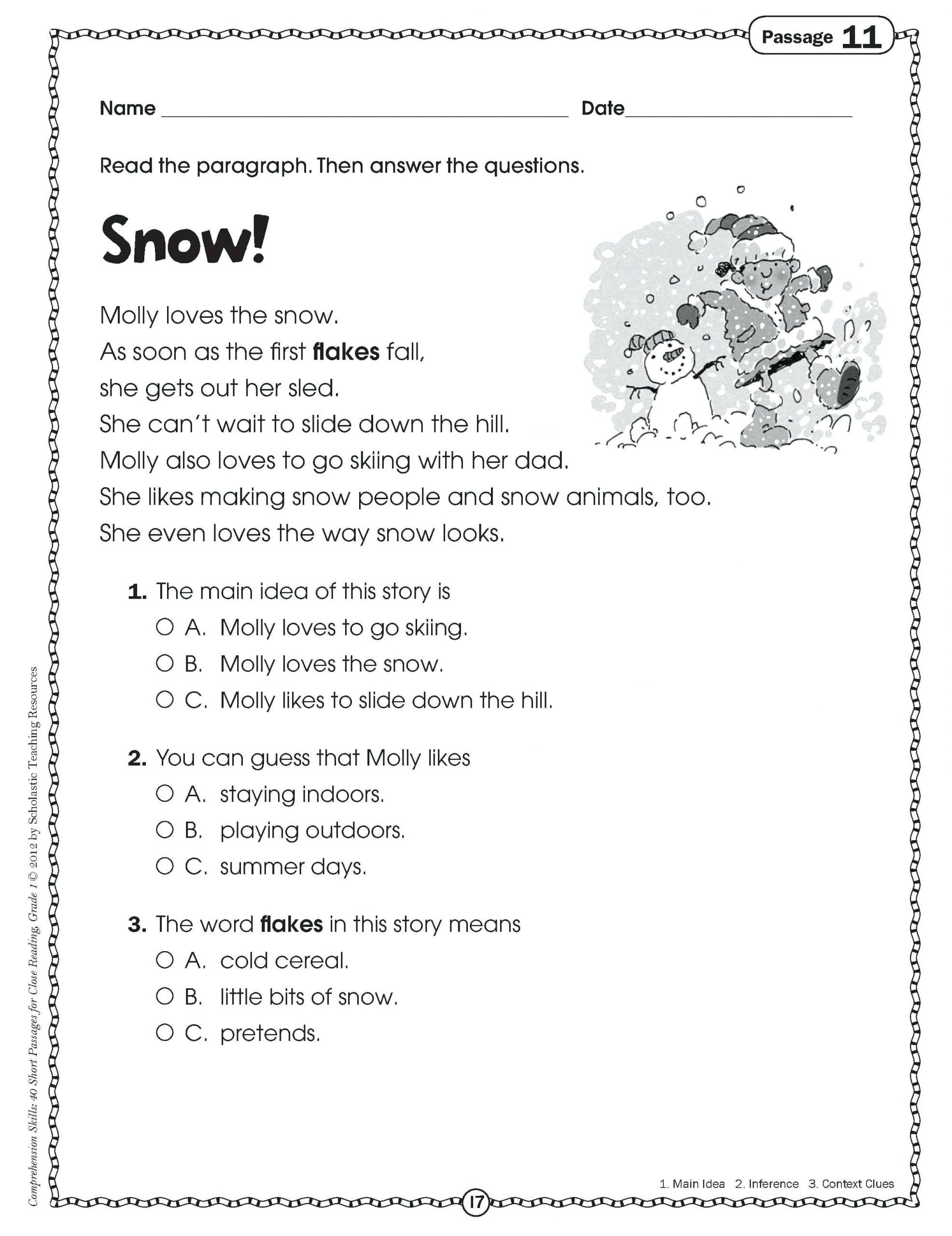 Inference Worksheets 4th Grade Pdf Worksheets Main Idea Worksheets 4th Grade Pdf Free Main