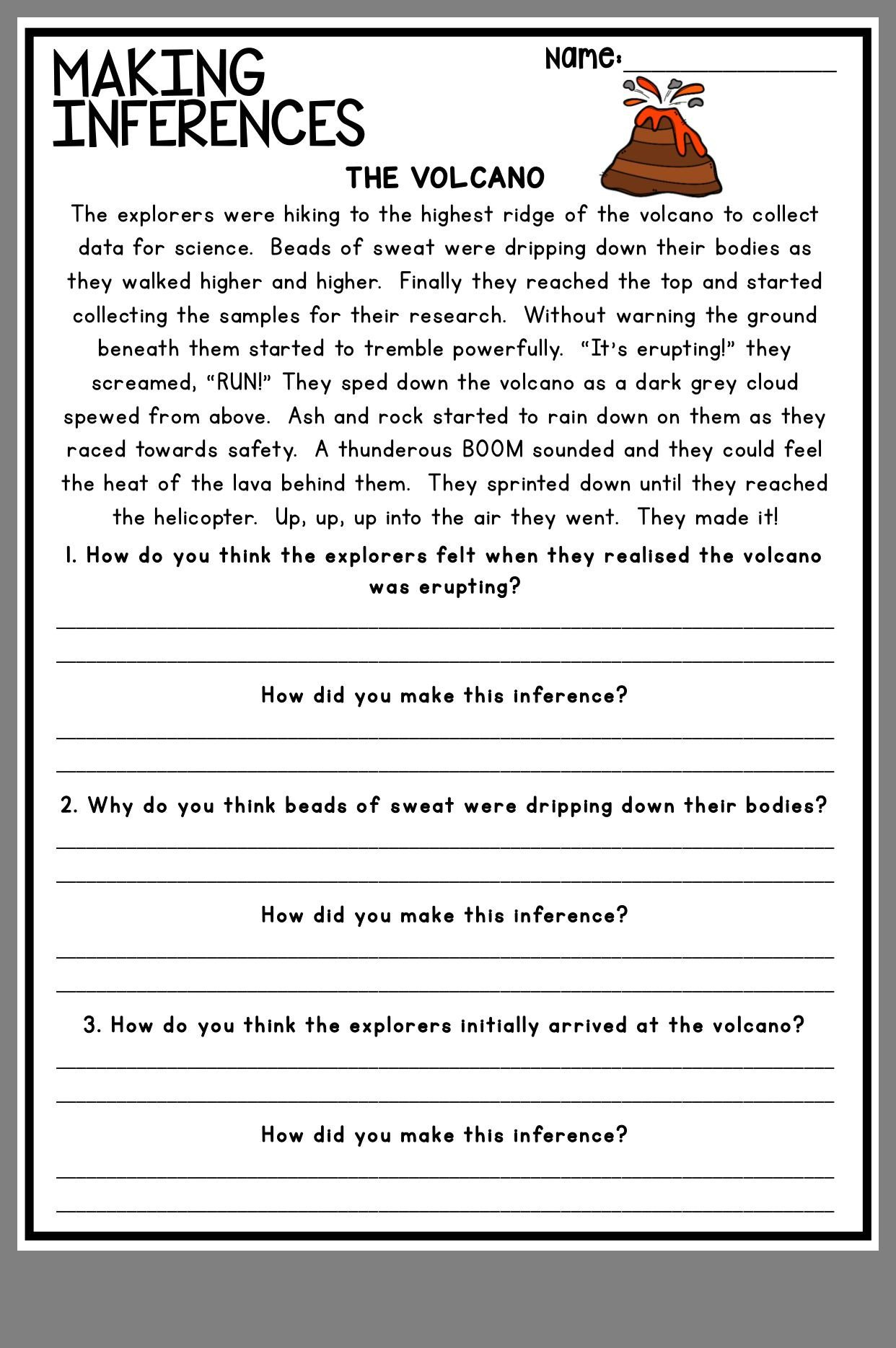 Inference Worksheets for 4th Grade Pin by Audrey C On A Teacher S Best Ideas