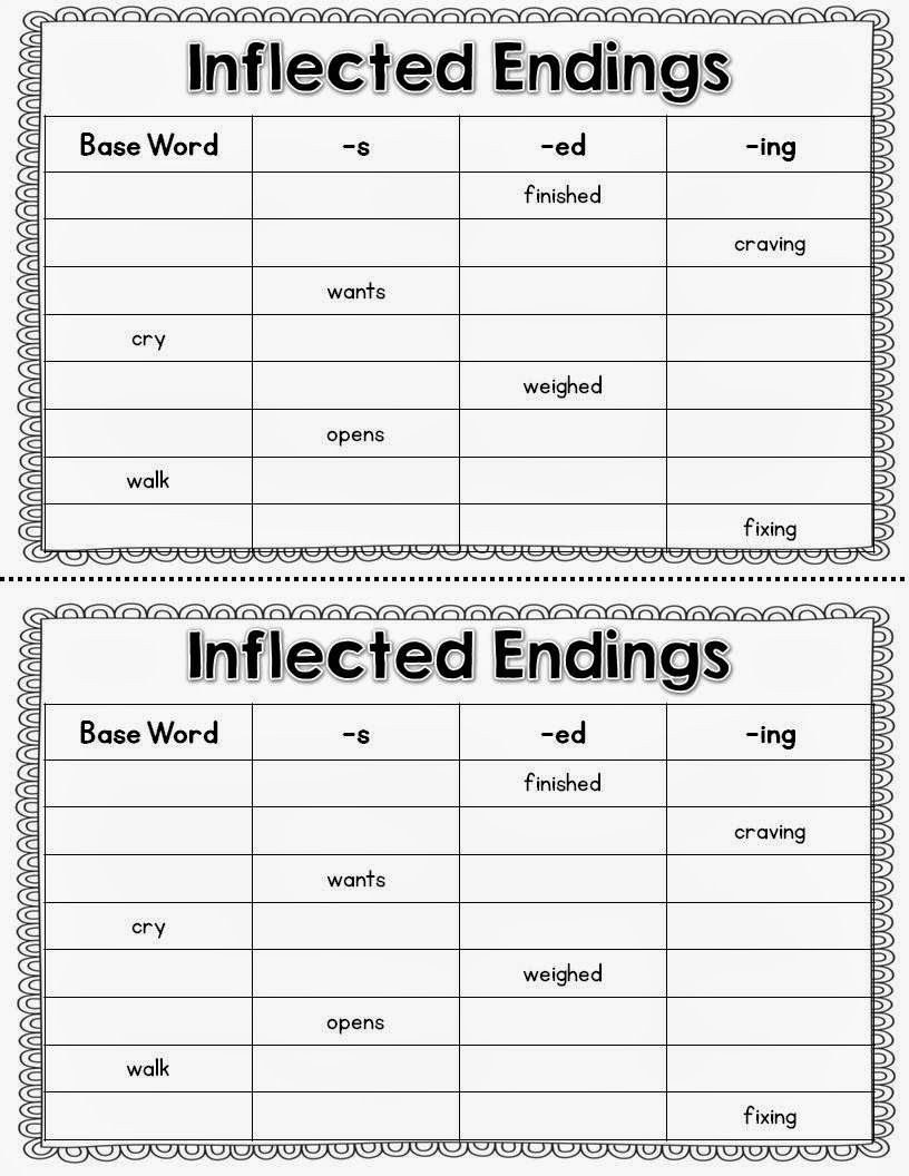 Inflected Endings Worksheets 2nd Grade Inflected Endings Words Chosen From the Wolf S Chicken Stew