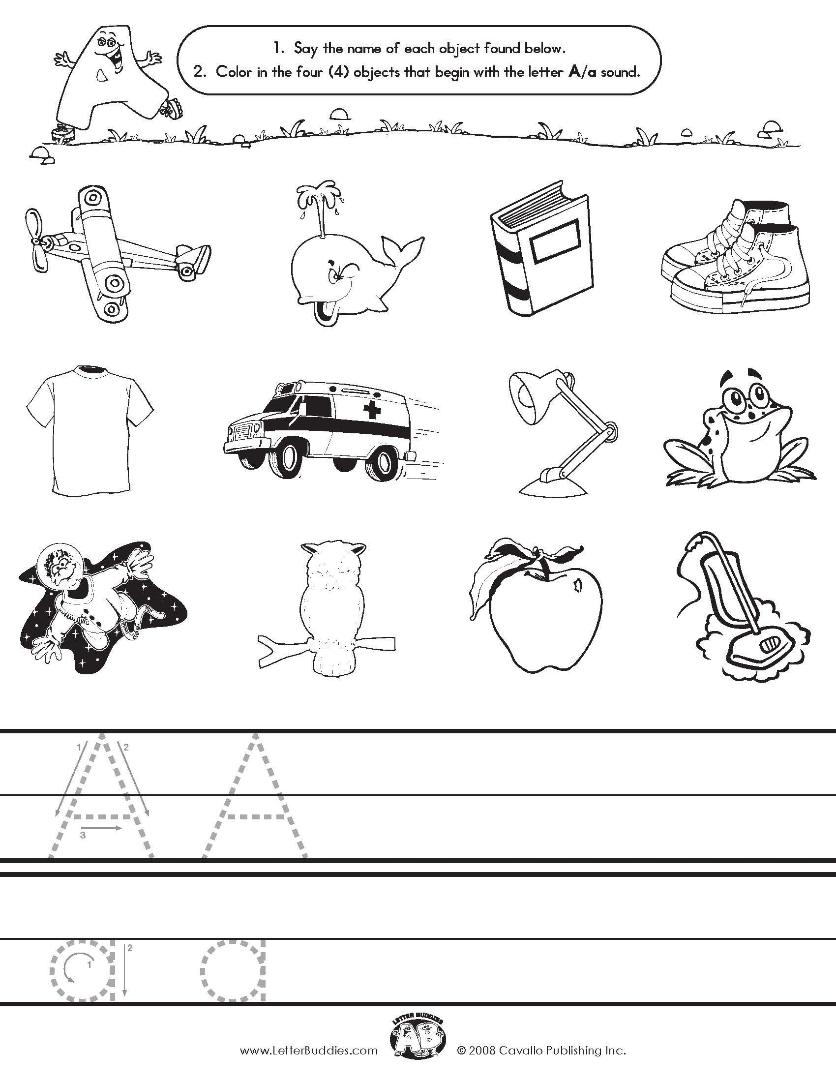 Initial sounds Worksheets for Kindergarten 6 Best Of Beginning Letter sound Activities Printable