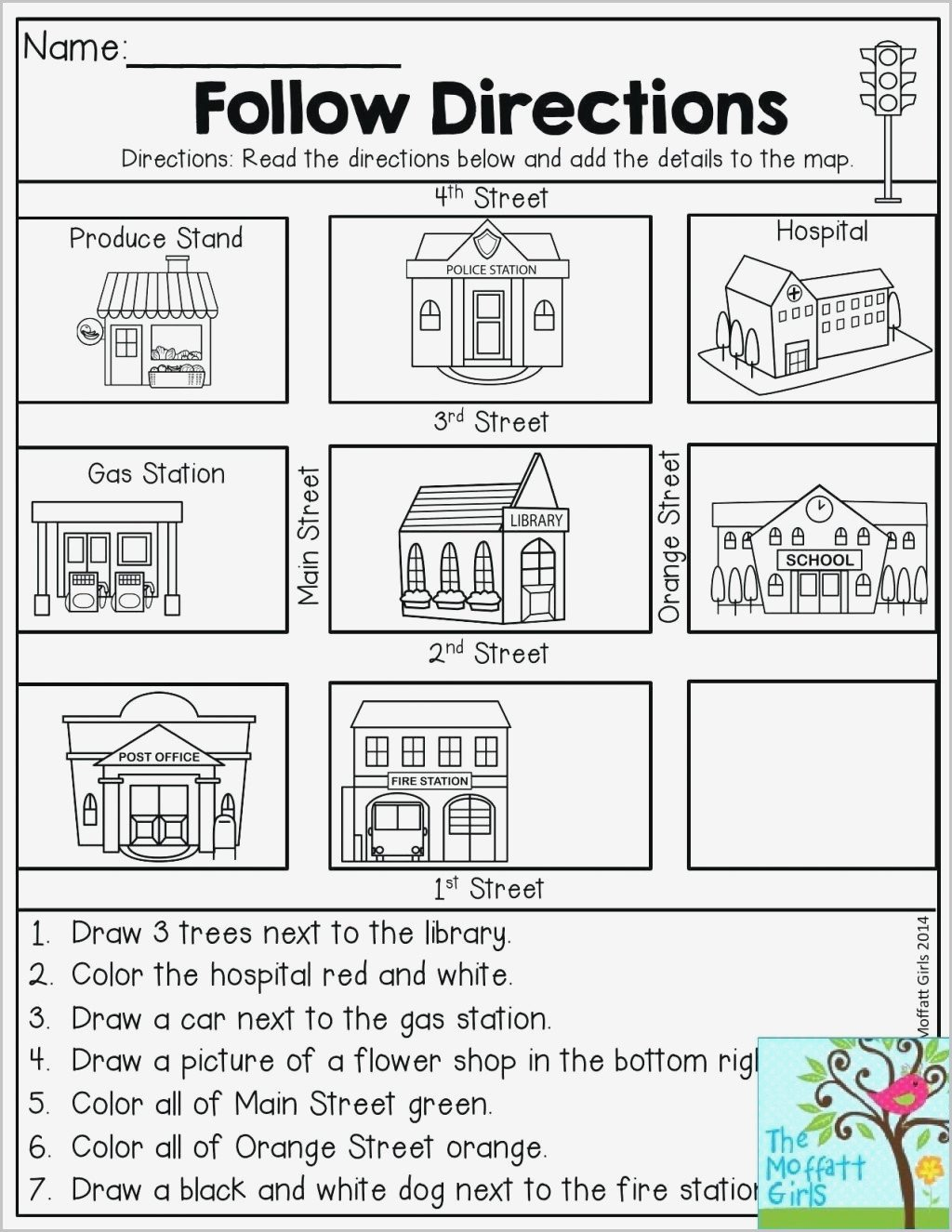 Intermediate Directions Worksheet Free Printable Cardinal Directions Worksheets