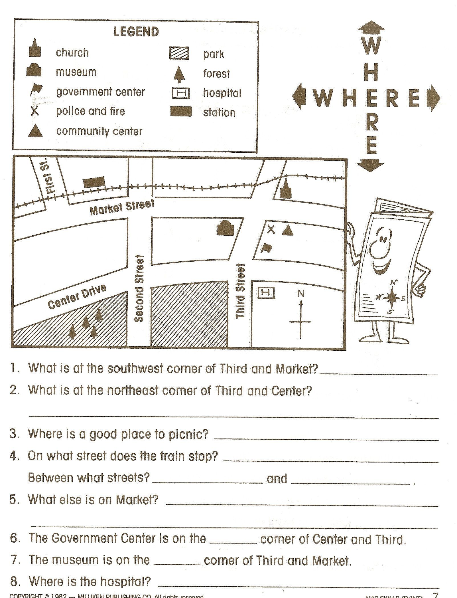 Intermediate Directions Worksheet social Stu S Skills