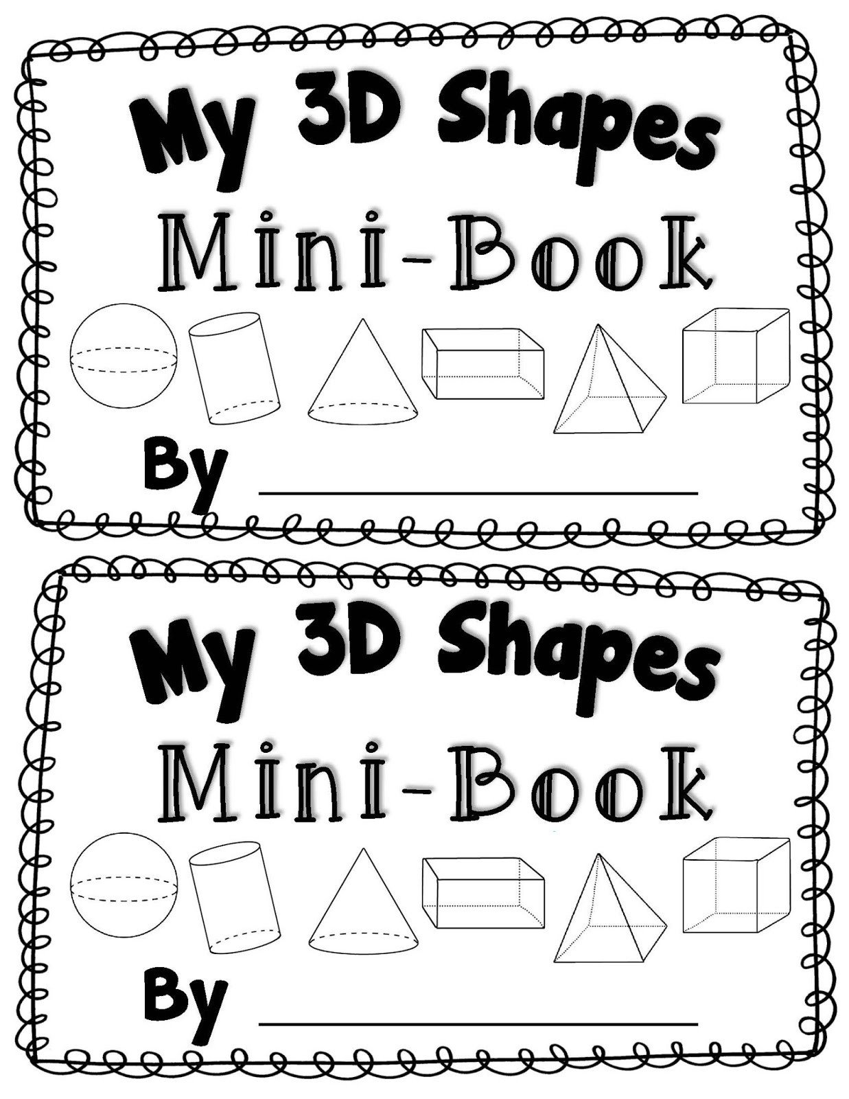 Kindergarten 3d Shape Worksheets 3 D Worksheets for Kindergarten