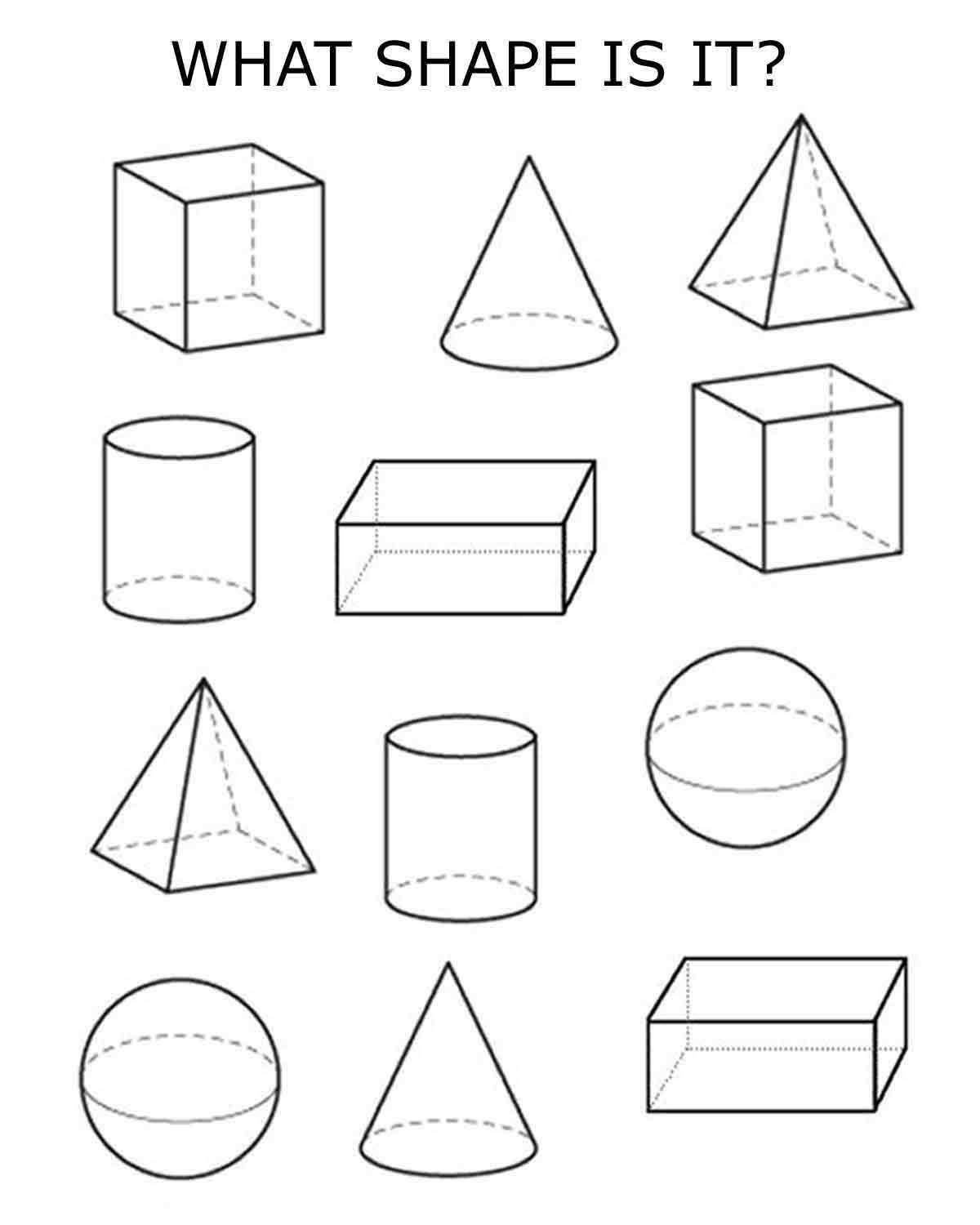 Kindergarten 3d Shape Worksheets 3d Shapes
