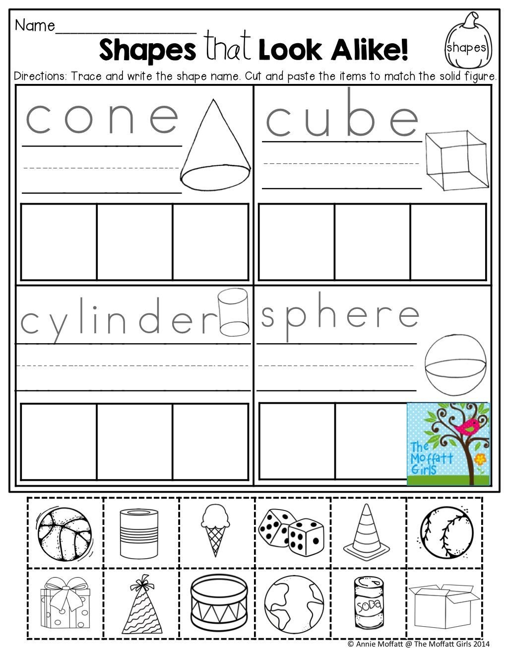Kindergarten 3d Shape Worksheets Pin On Kindergarten Math