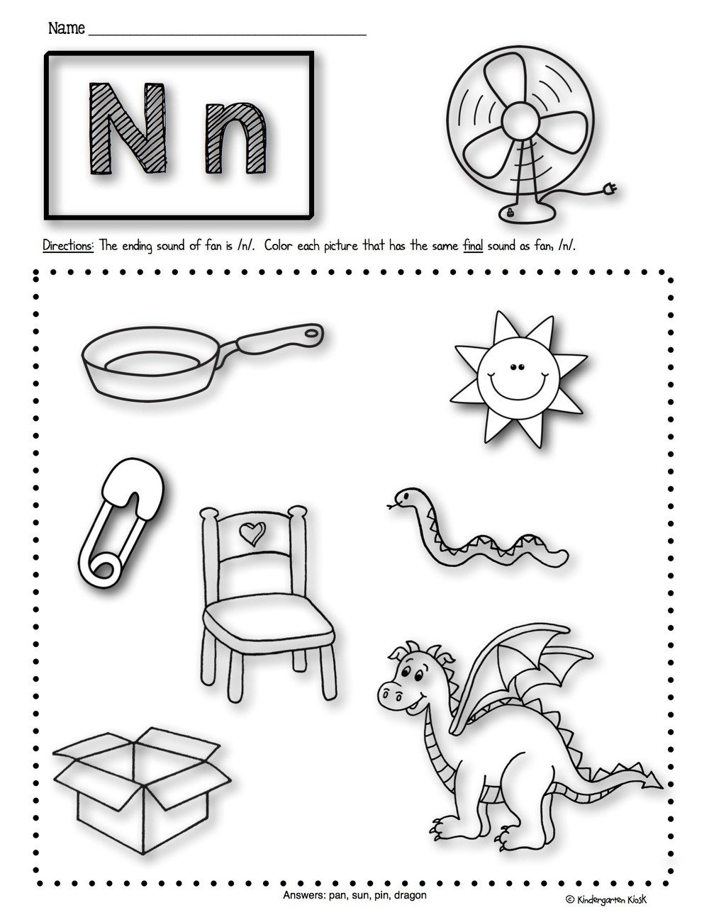 Kindergarten Beginning sounds Worksheets Math Worksheet Phonics Prep Ending sounds Worksheets