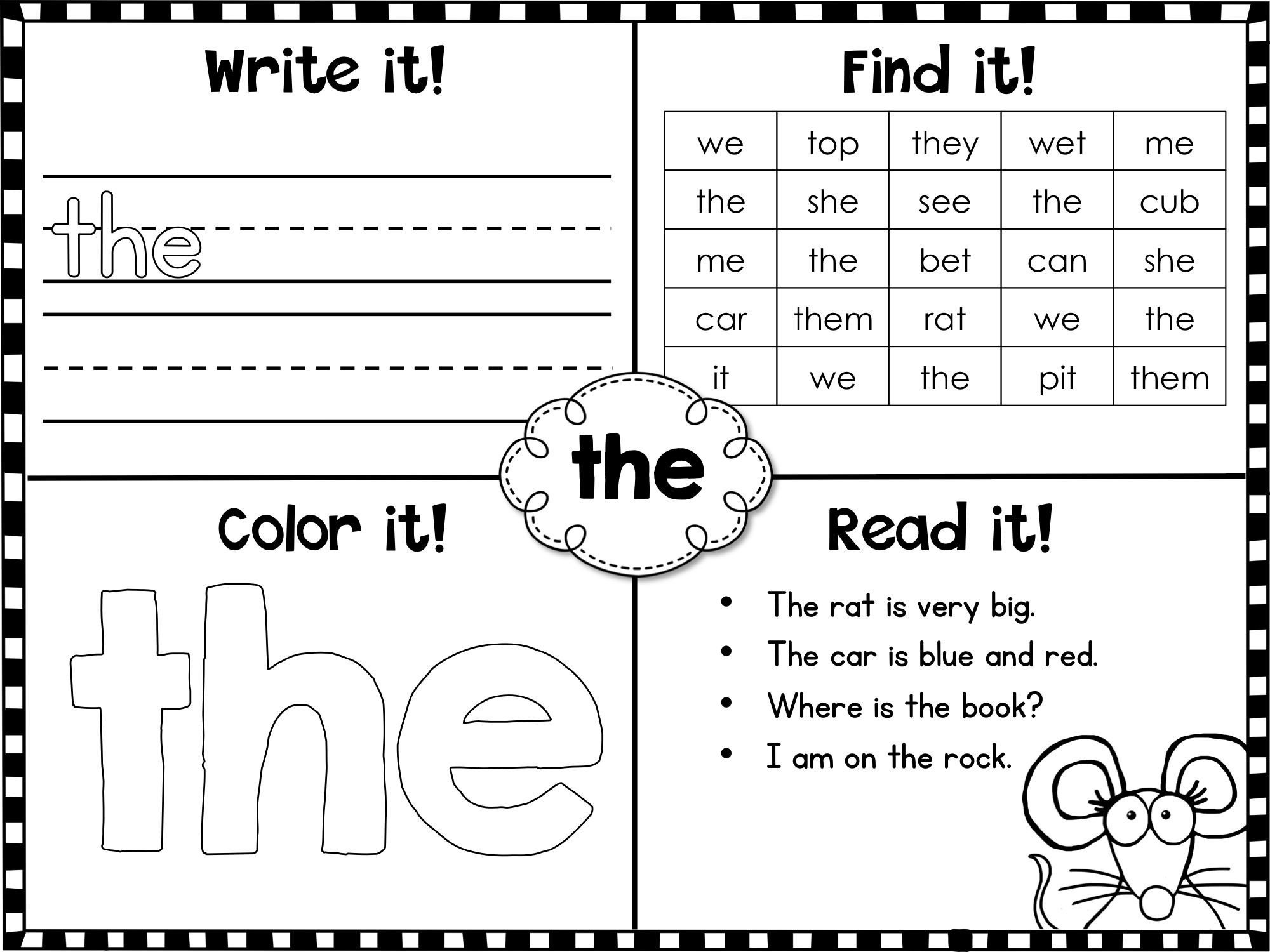Kindergarten Color Words Worksheets Fry Sight Words First Printables Kindergarten Worksheets