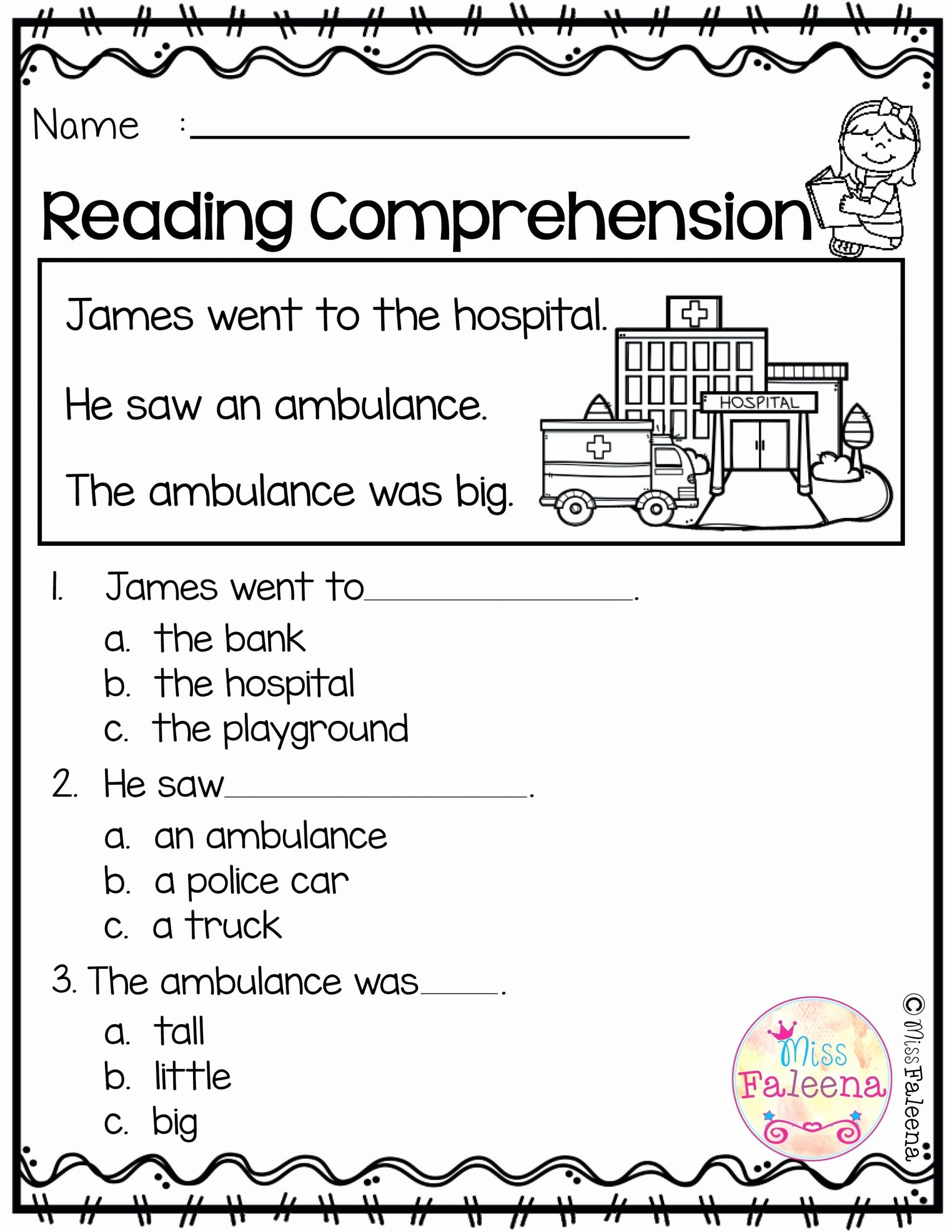 Kindergarten Main Idea Worksheets Learn Line Kindergarten Grade Reading Worksheets