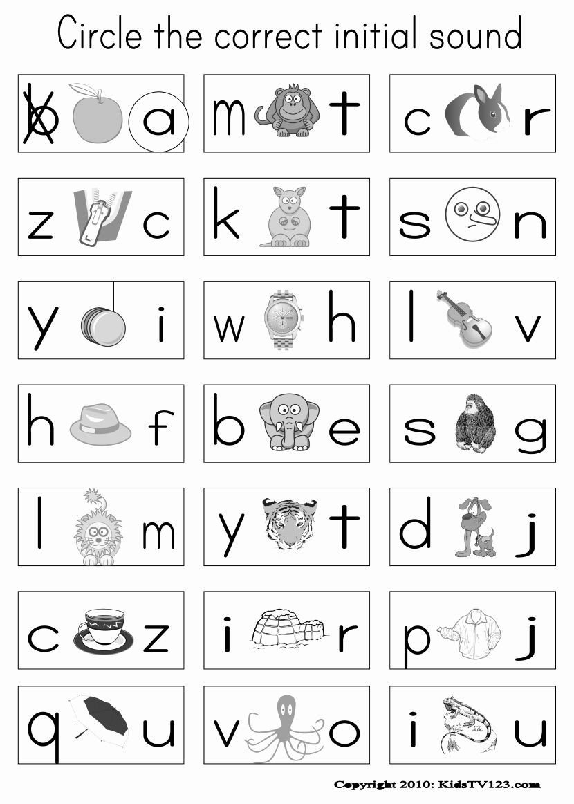 Kindergarten Phonics Worksheets Beginning sounds Image Result for Jolly Phonics Worksheets Printables