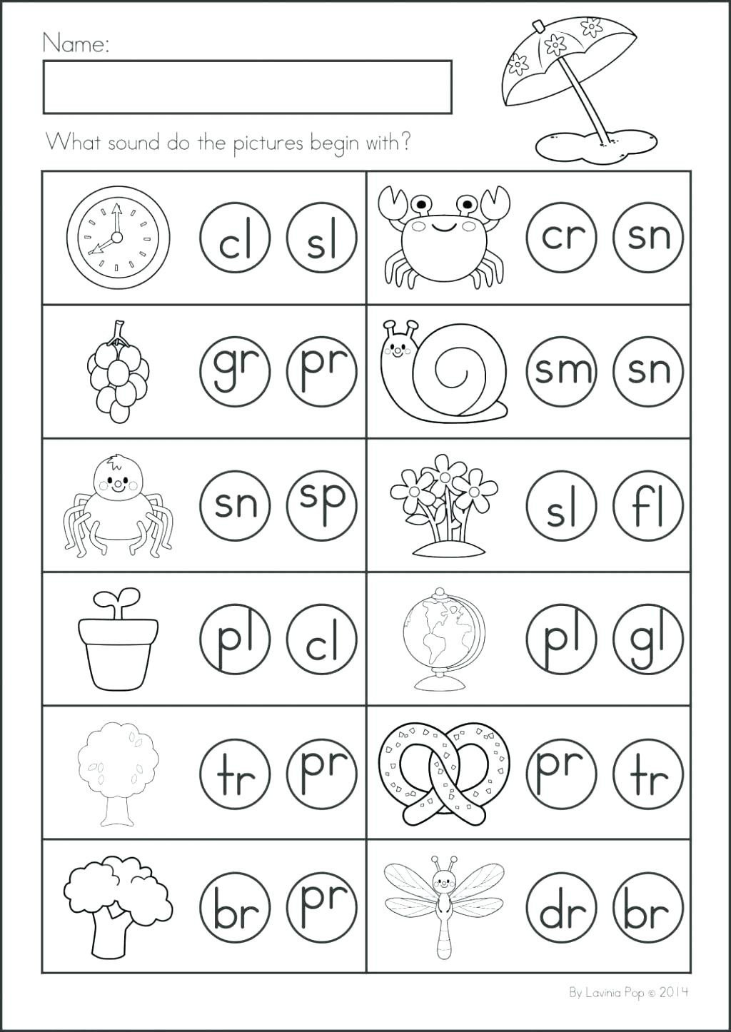Kindergarten Phonics Worksheets Beginning sounds Worksheet Kindergarten Phonics Lessons Worksheets
