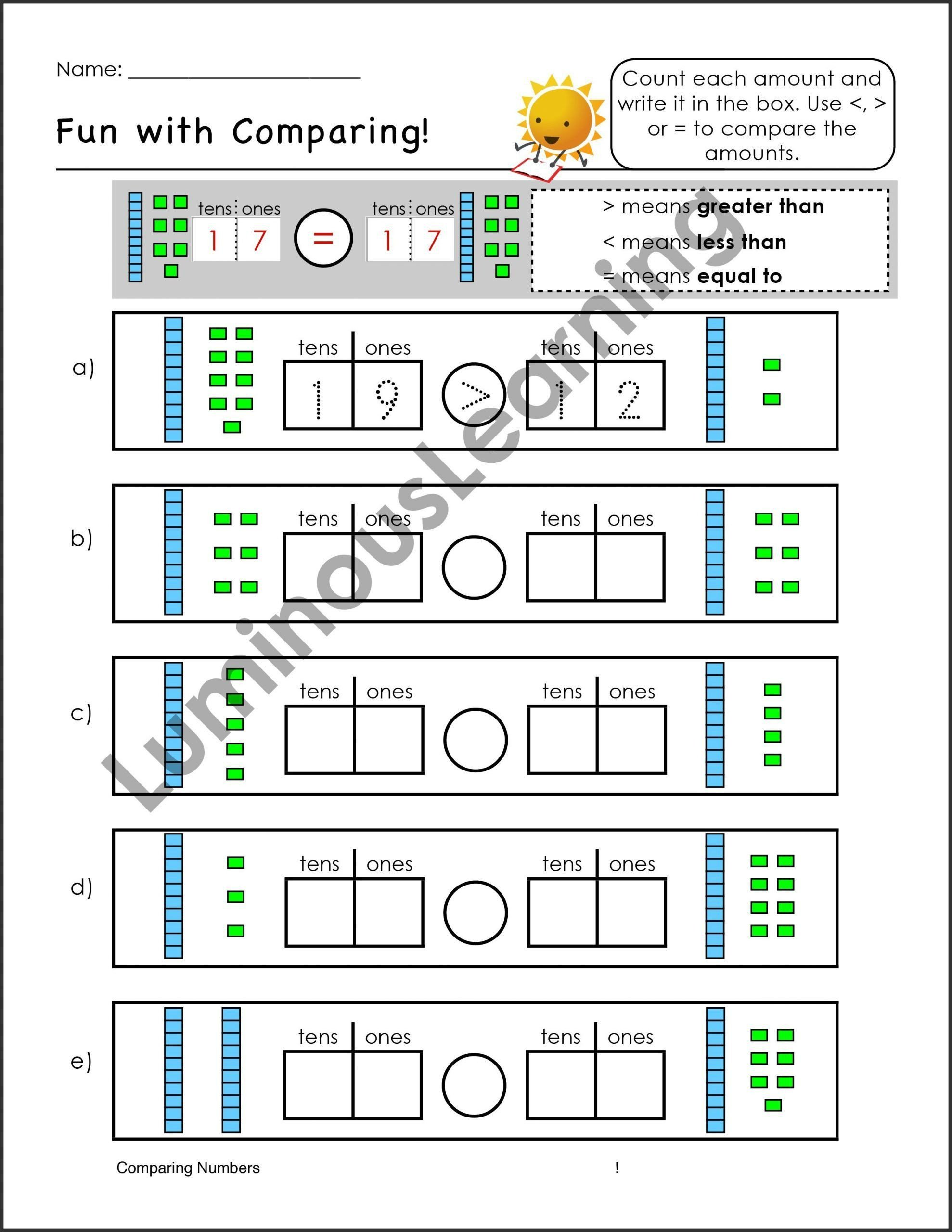 Kindergarten Place Value Worksheet Pin On Examples Printable Kindergarten Worksheets