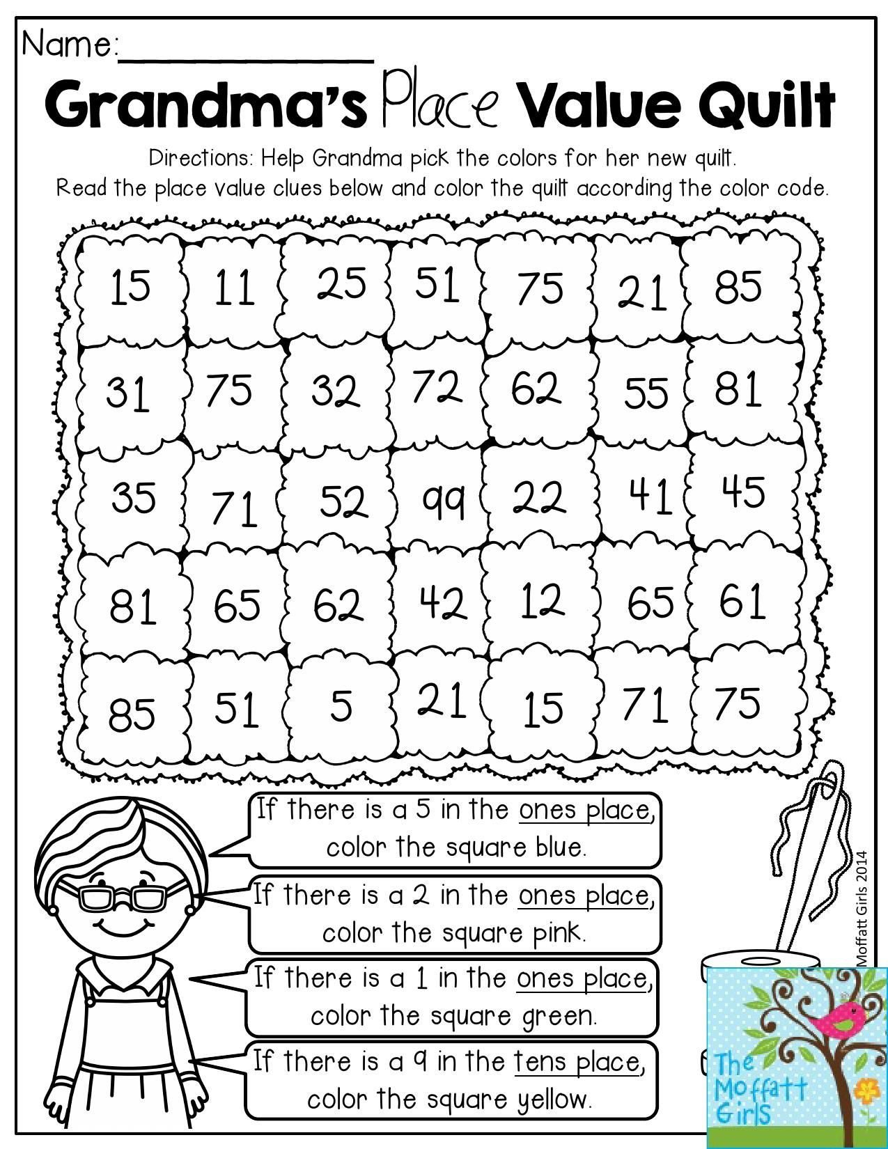 Kindergarten Place Value Worksheet Place Value Activities 2nd Grade