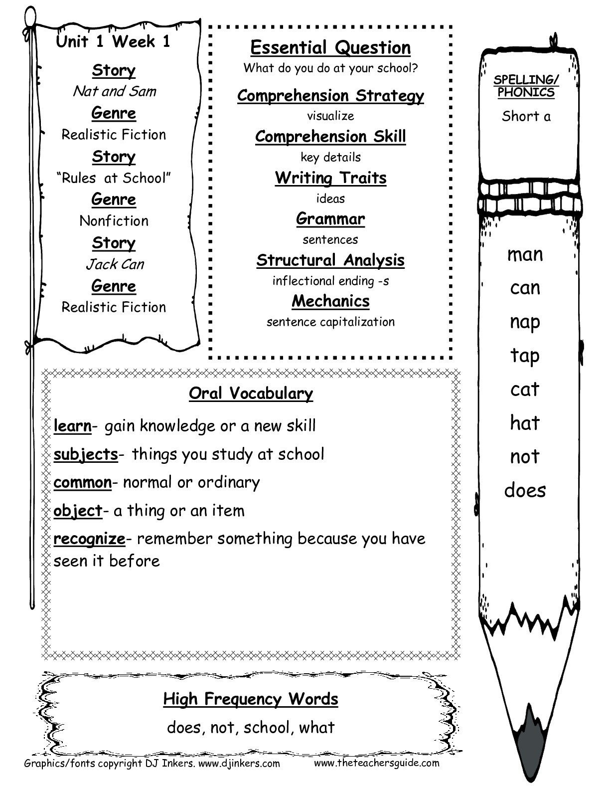 Kindergarten Science Worksheets Free Mcgraw Wonders First Grade Resources and Printouts Free